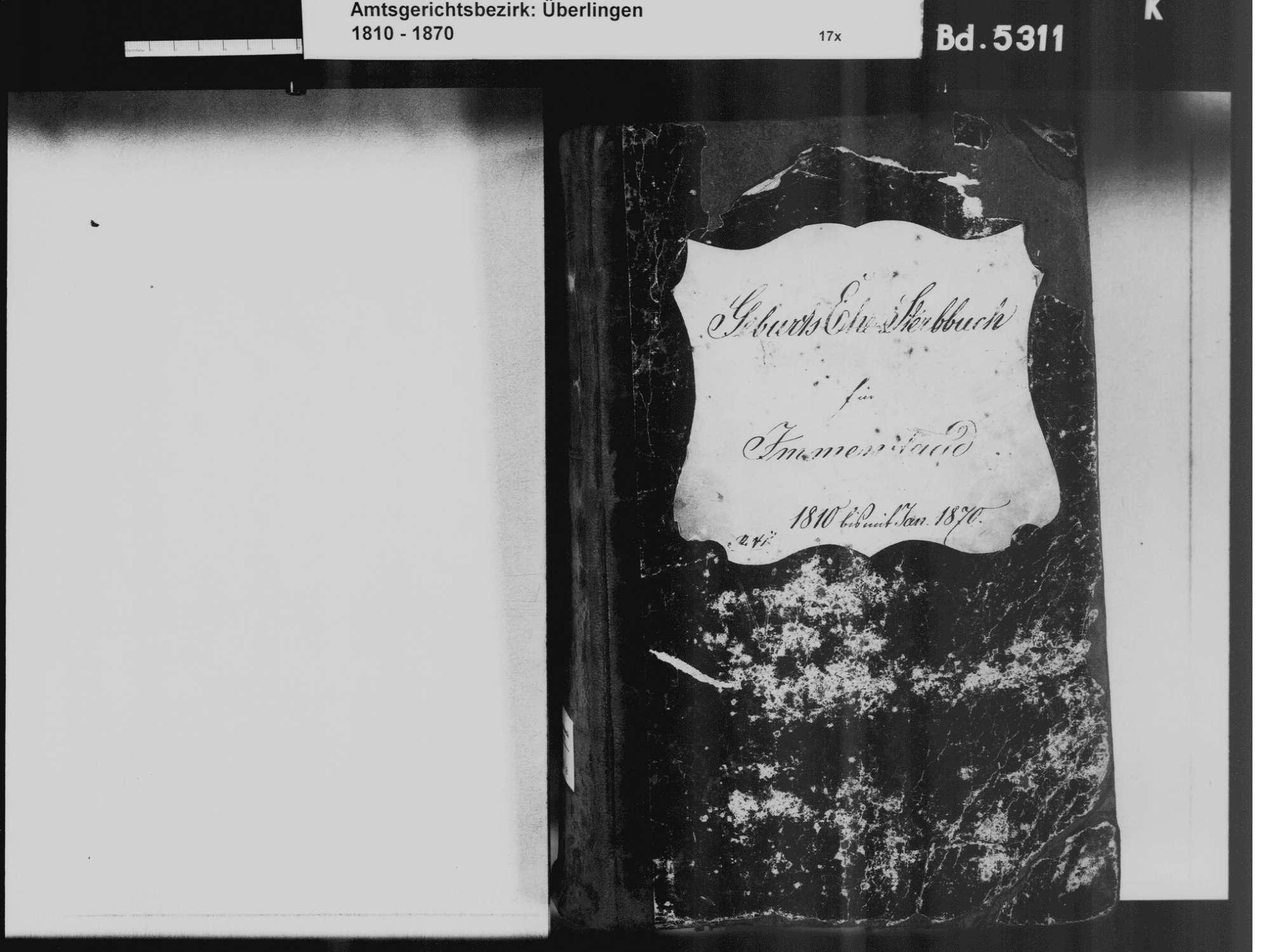 Immenstaad am Bodensee FN; Katholische Gemeinde: Standesbuch 1810-1870, Bild 3