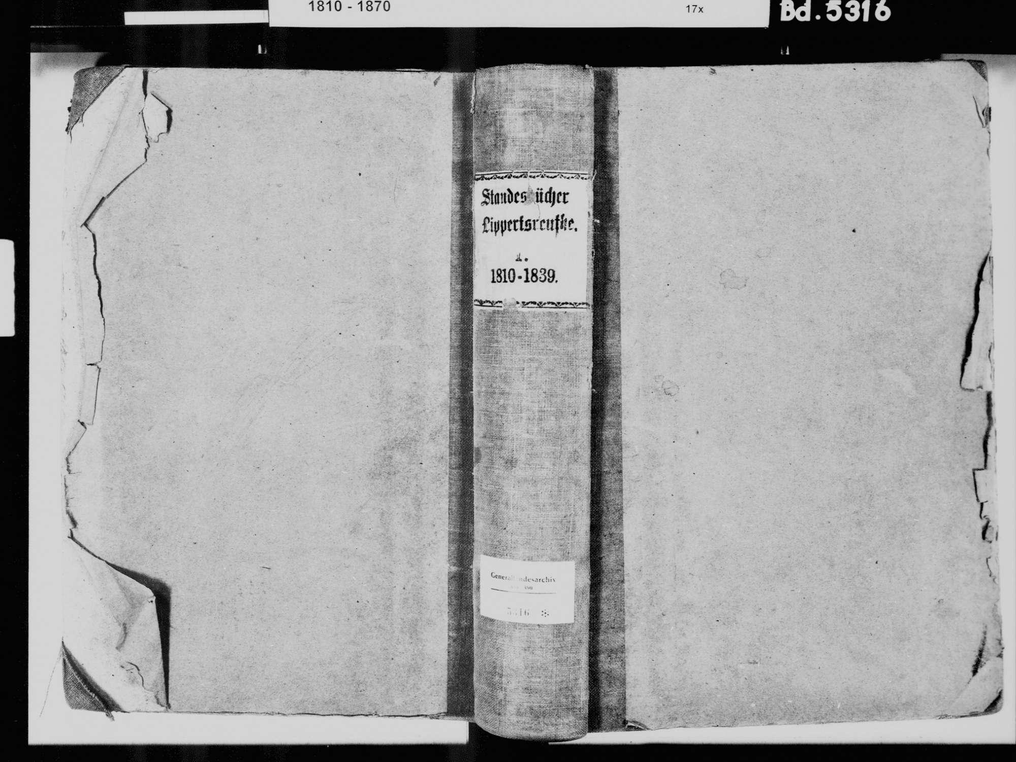 Lippertsreute, Überlingen FN; Katholische Gemeinde: Standesbuch 1810-1839, Bild 2