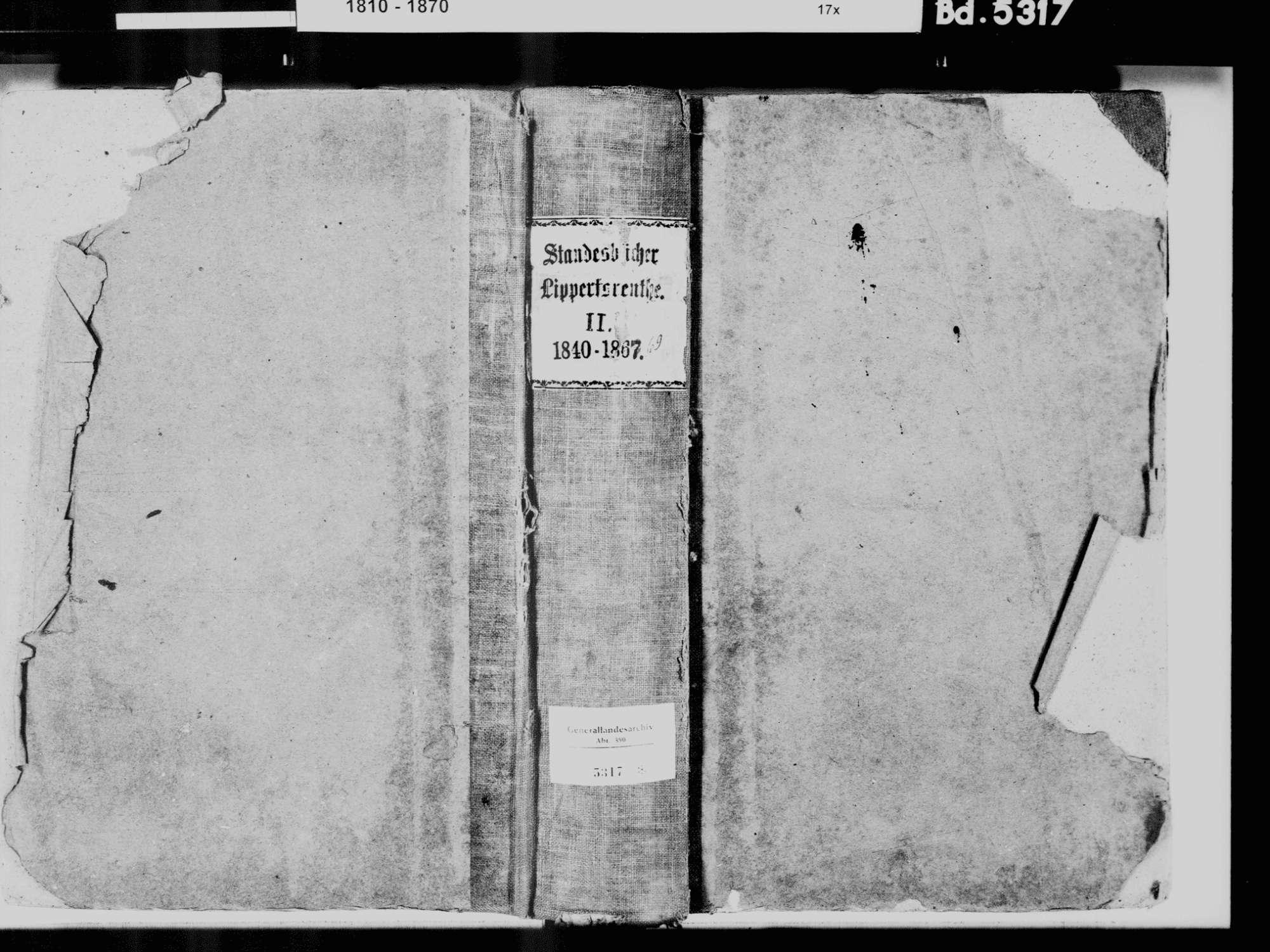 Lippertsreute, Überlingen FN; Katholische Gemeinde: Standesbuch 1840-1869, Bild 2