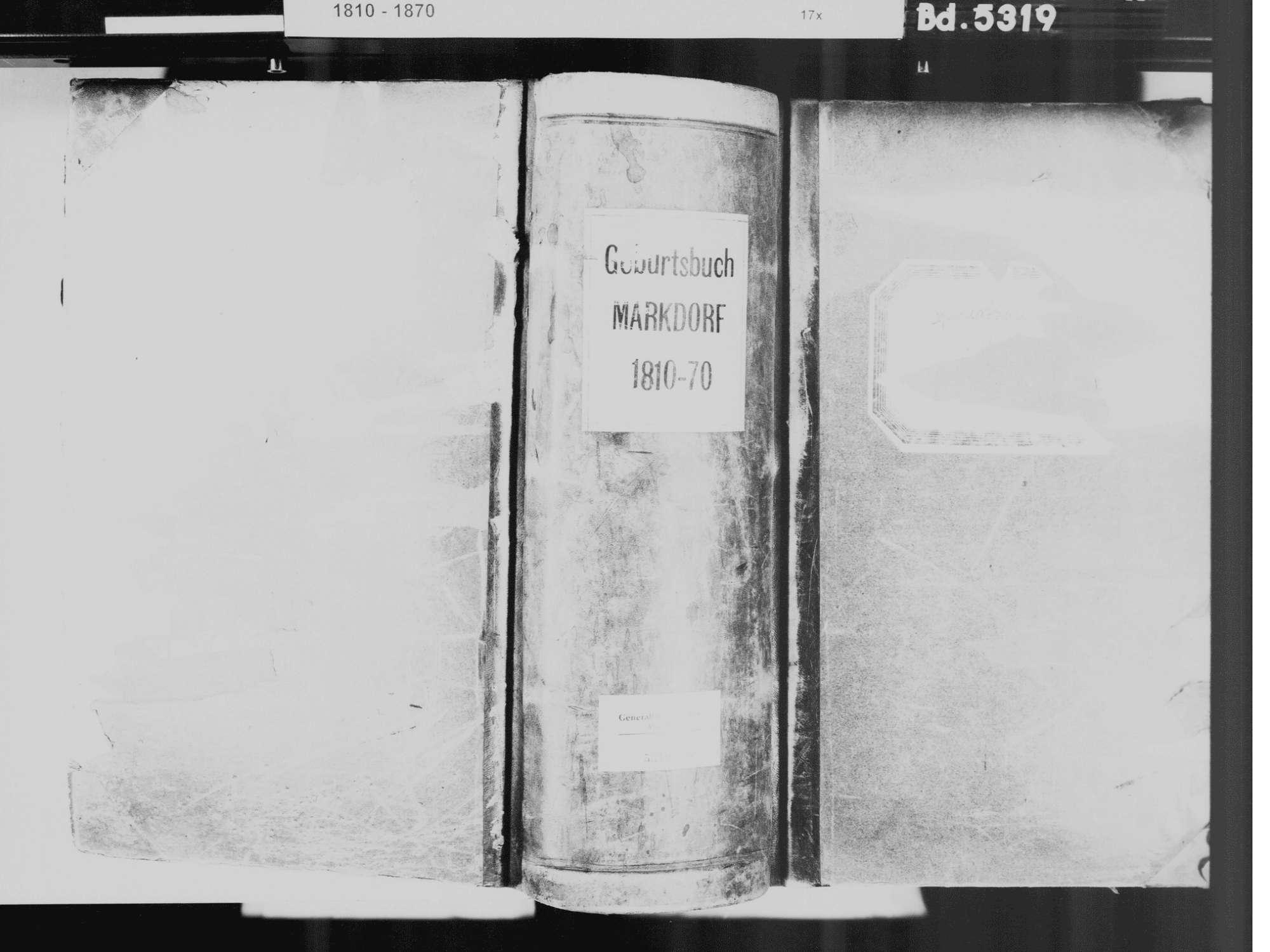 Markdorf FN, Katholische Gemeinde: Geburtenbuch 1810-1870, Bild 2