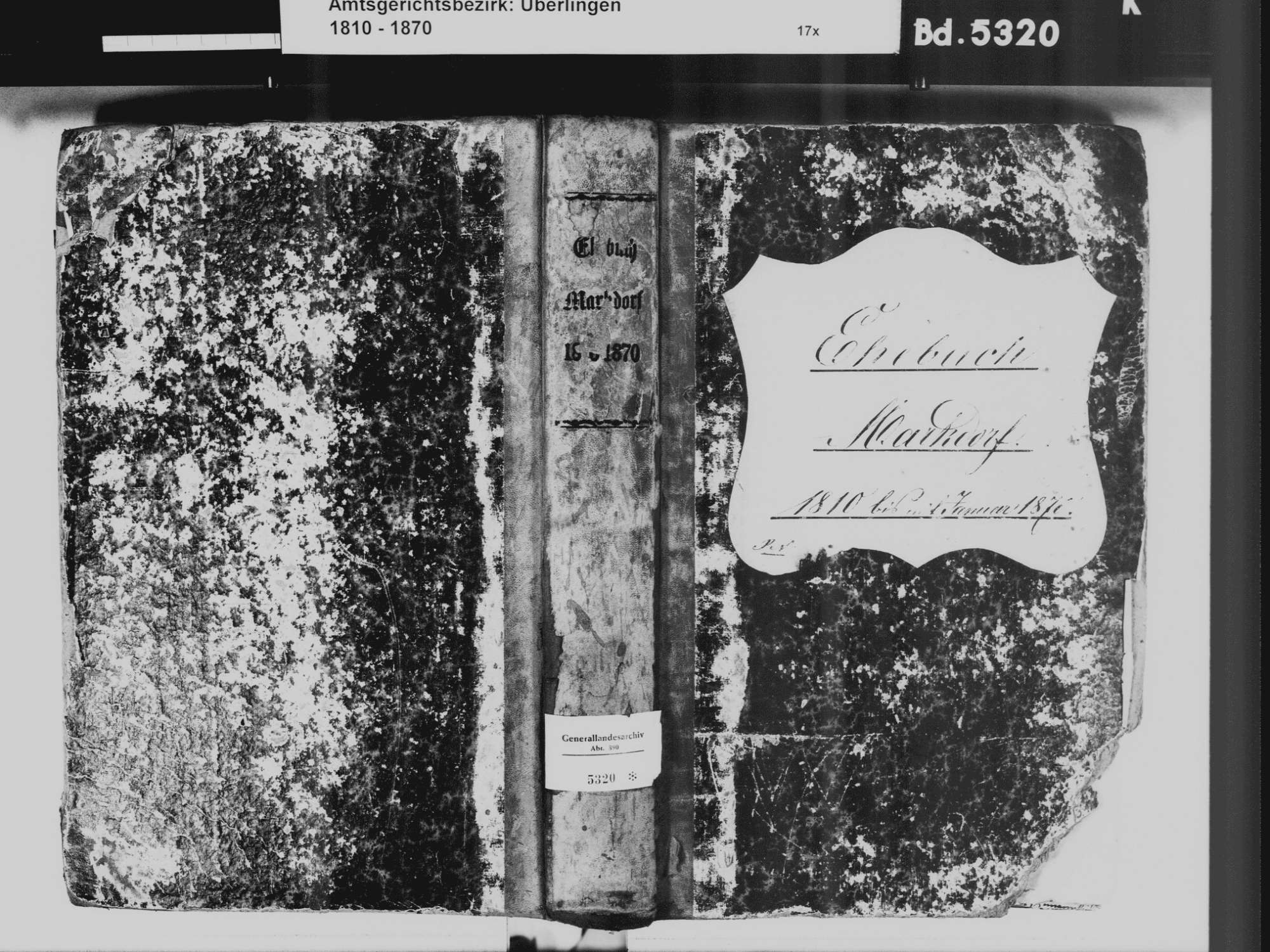 Markdorf FN, Katholische Gemeinde: Heiratsbuch 1810-1870, Bild 2
