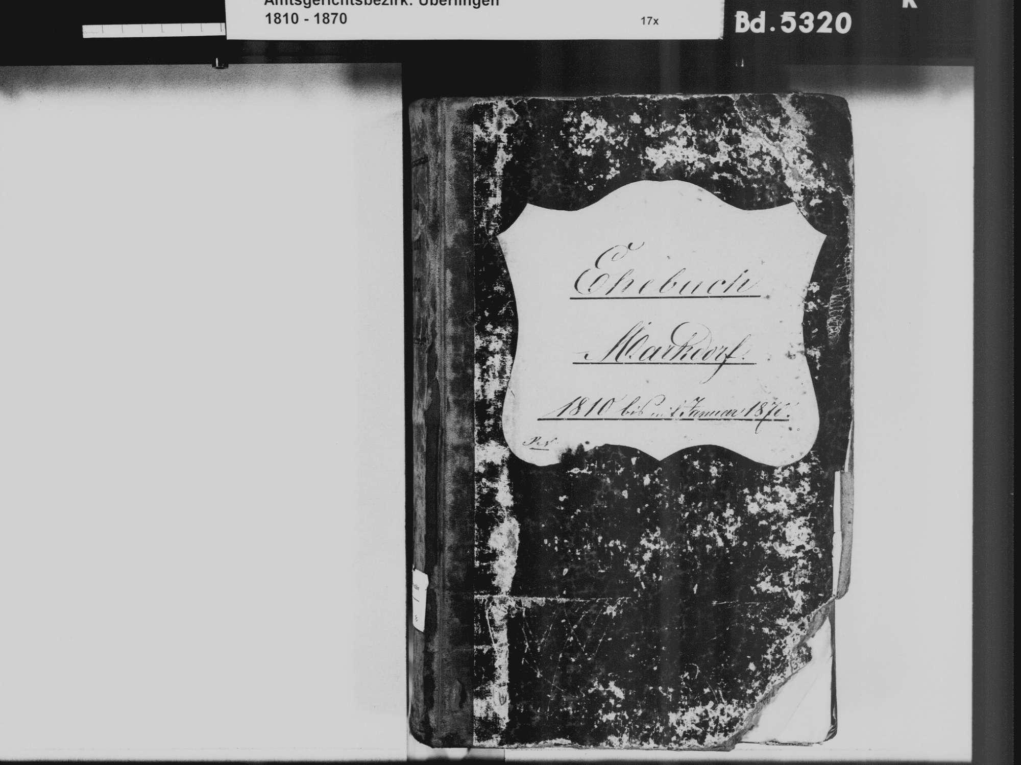 Markdorf FN, Katholische Gemeinde: Heiratsbuch 1810-1870, Bild 3