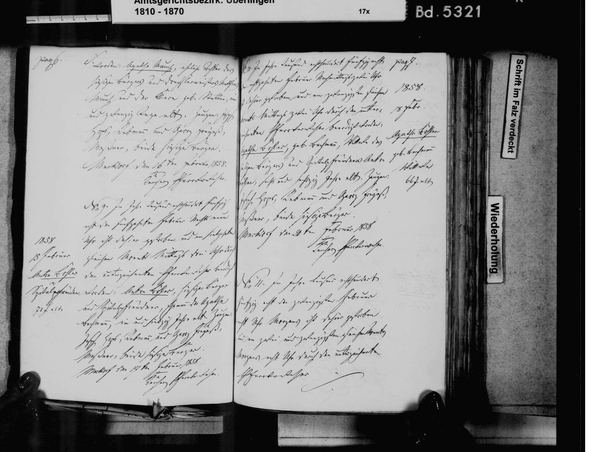Markdorf FN, Katholische Gemeinde: Sterbebuch 1810-1870, Bild 2