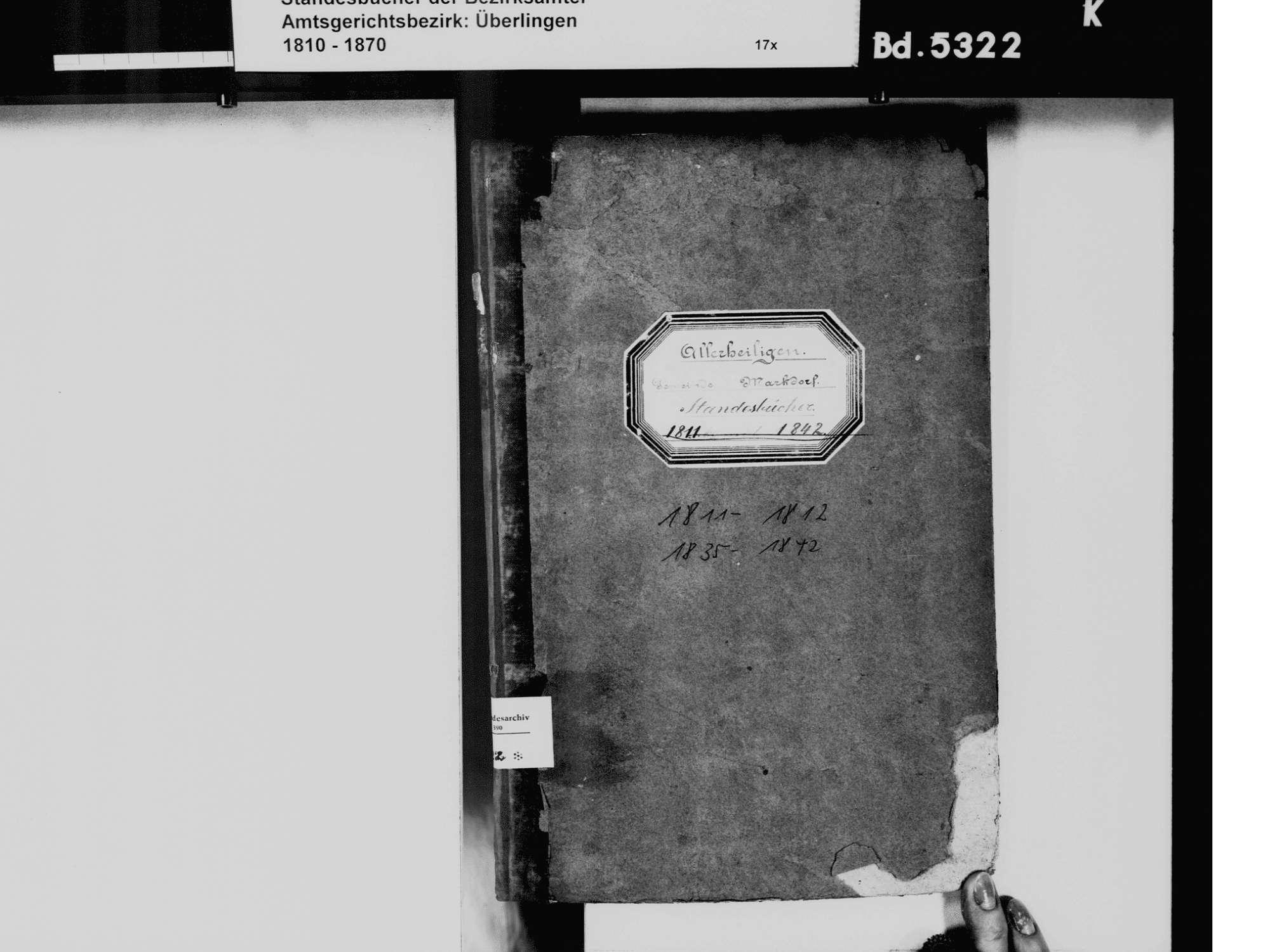 Allerheiligen, Markdorf FN; Katholische Gemeinde: Standesbuch 1811-1812, 1835-1842, Bild 3