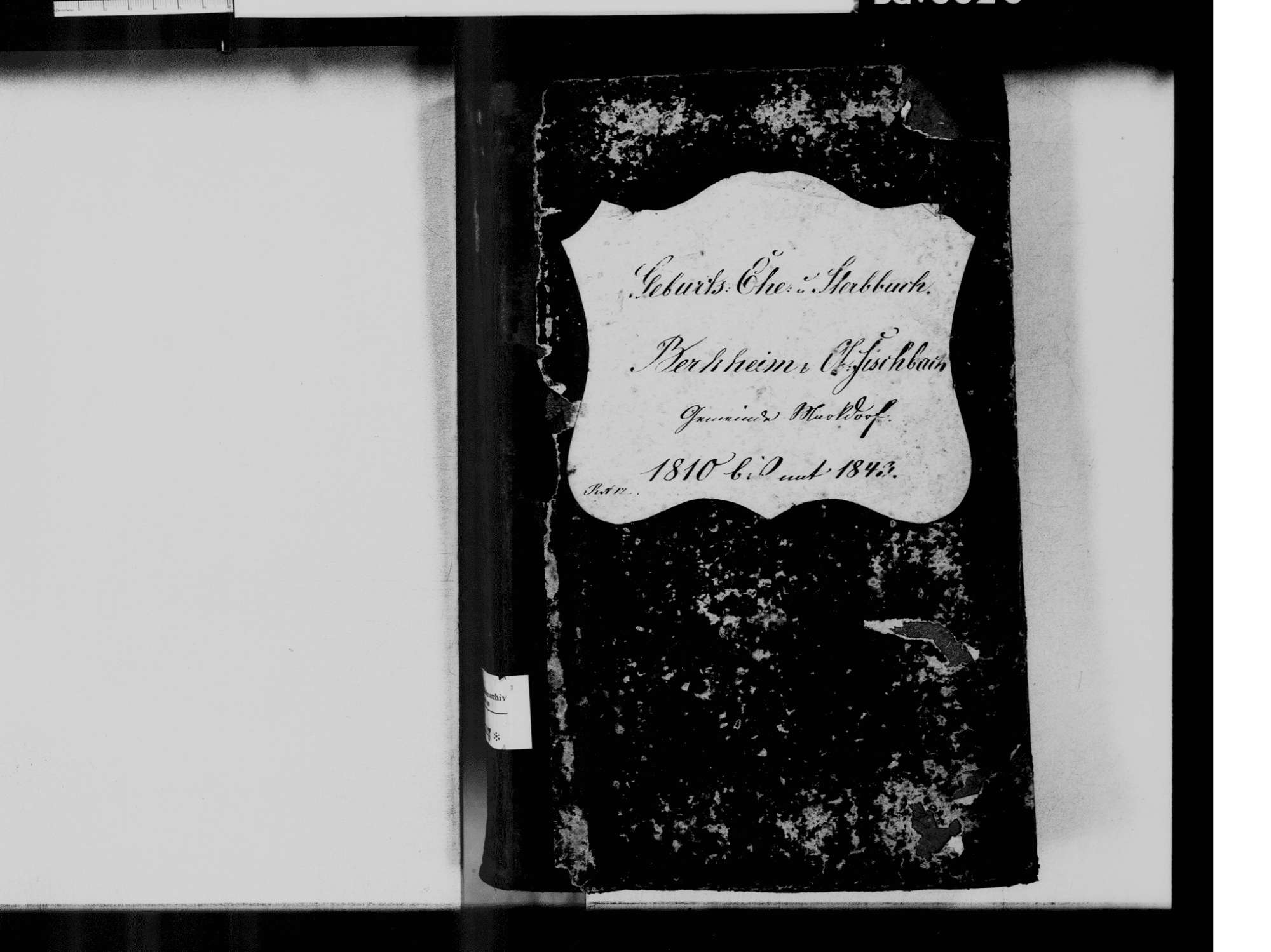 Bergheim, Markdorf FN; Katholische Gemeinde: Standesbuch 1810-1843, Bild 3