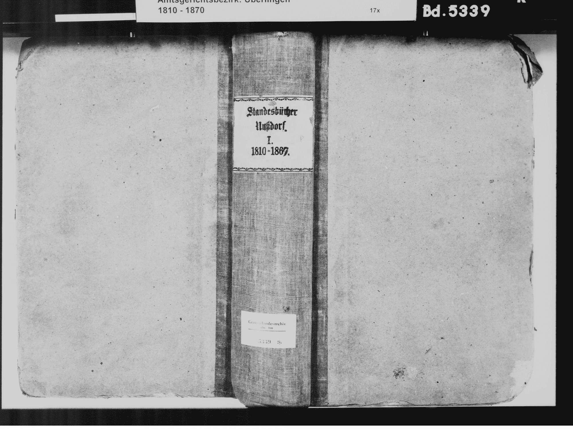 Nußdorf, Überlingen FN; Katholische Gemeinde: Standesbuch 1810-1869, Bild 2