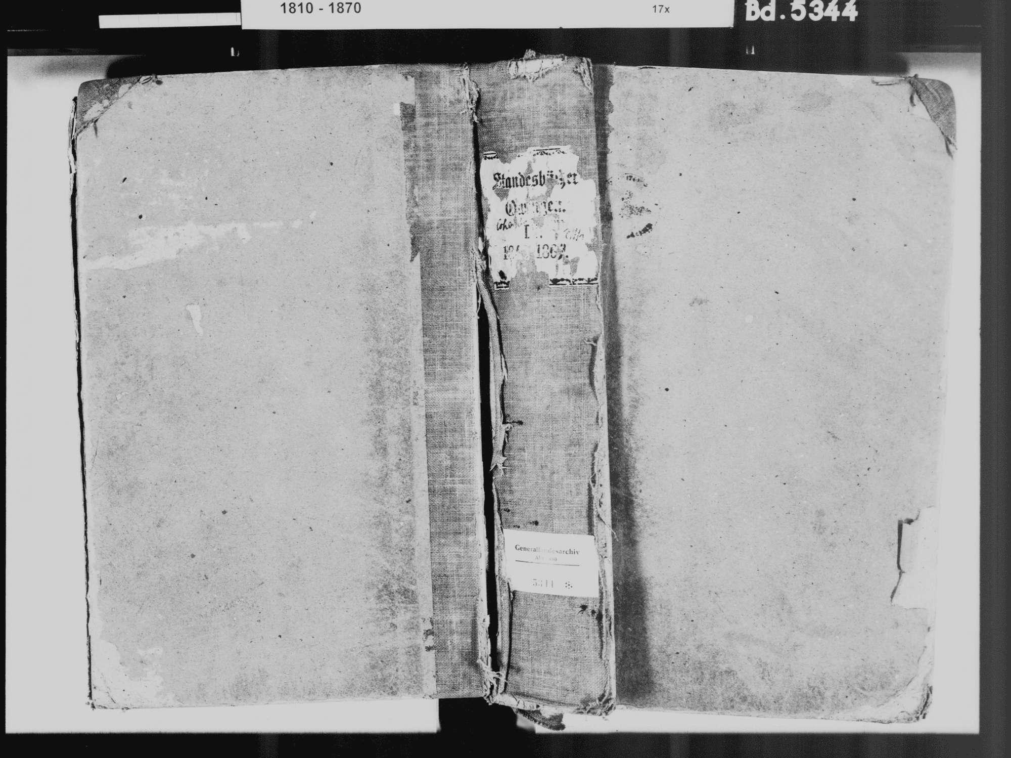 Owingen FN; Katholische Gemeinde: Standesbuch 1840-1869, Bild 2