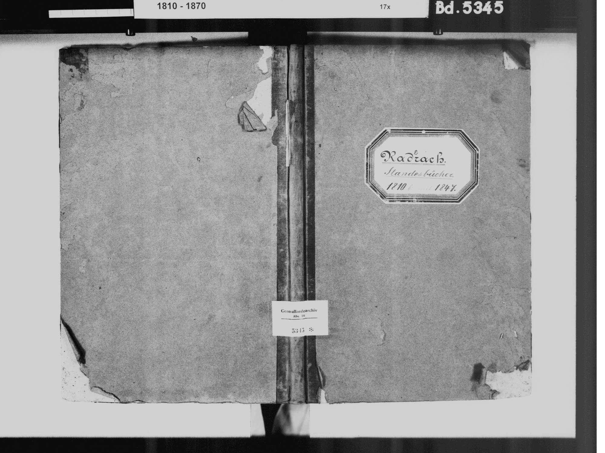 Raderach, Friedrichshafen FN; Katholische Gemeinde: Standesbuch 1810-1846, Bild 2