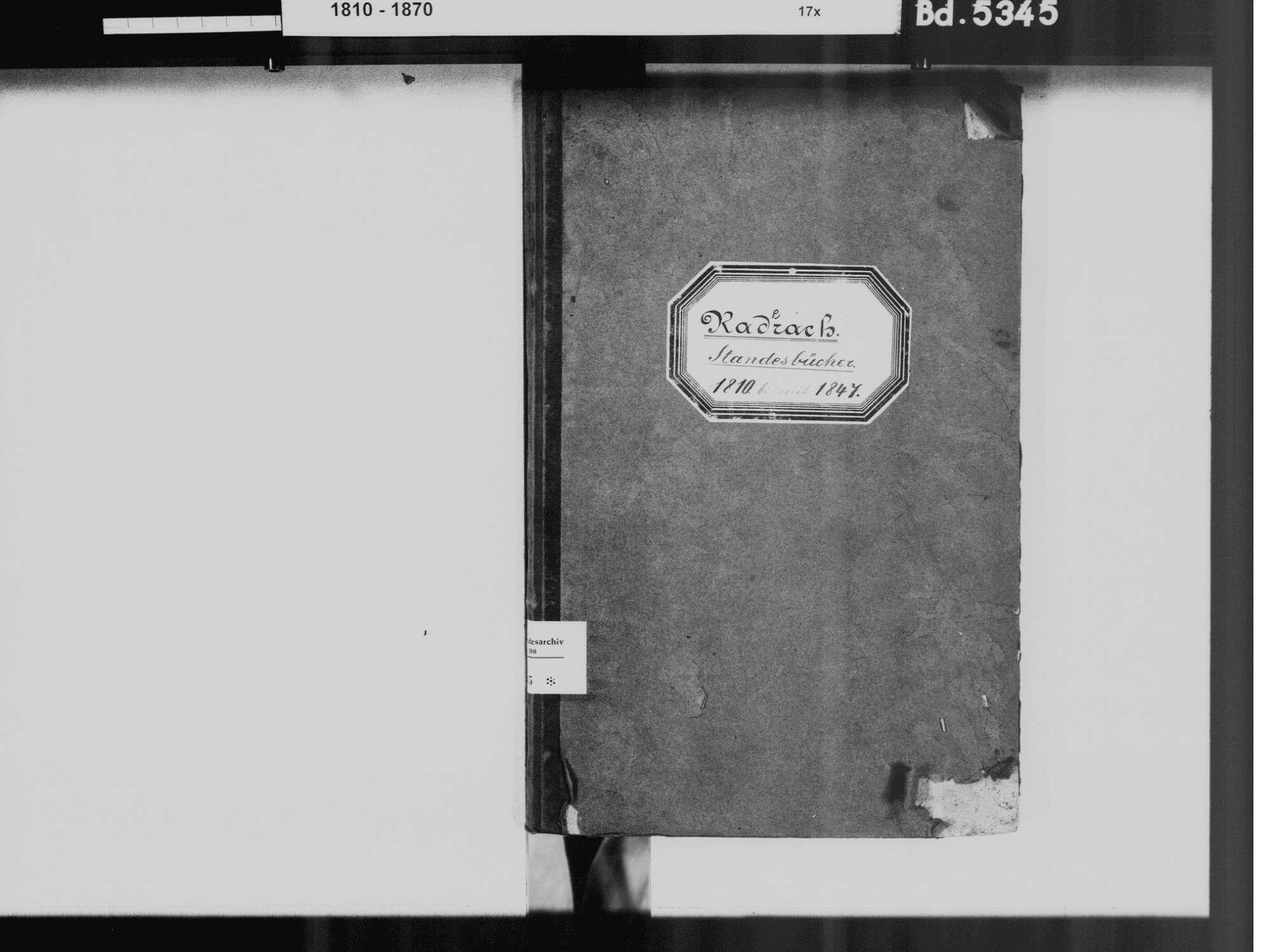 Raderach, Friedrichshafen FN; Katholische Gemeinde: Standesbuch 1810-1846, Bild 3