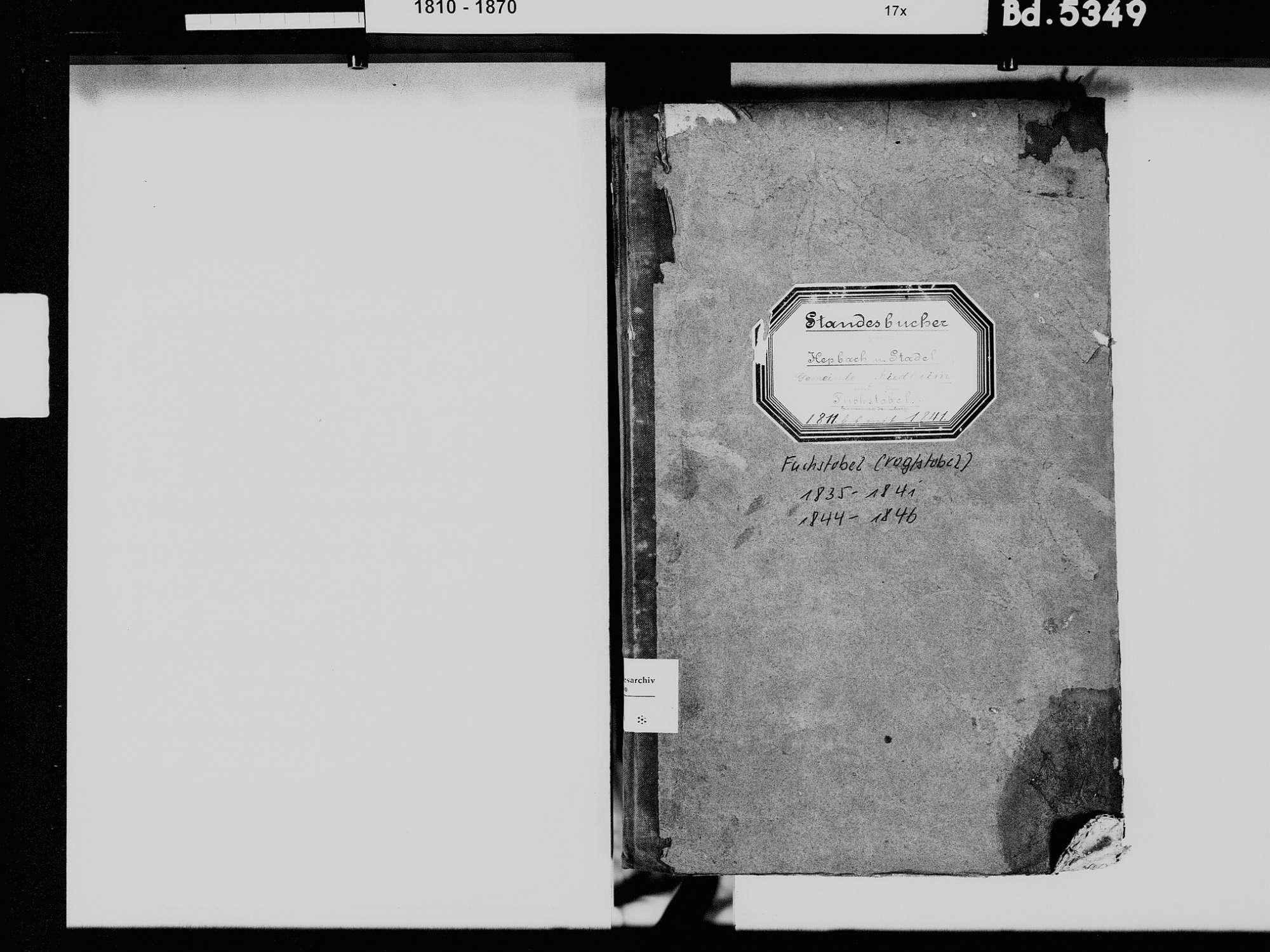 Hepbach, Riedheim, Markdorf FN; Katholische Gemeinde: Standesbuch, Bild 3