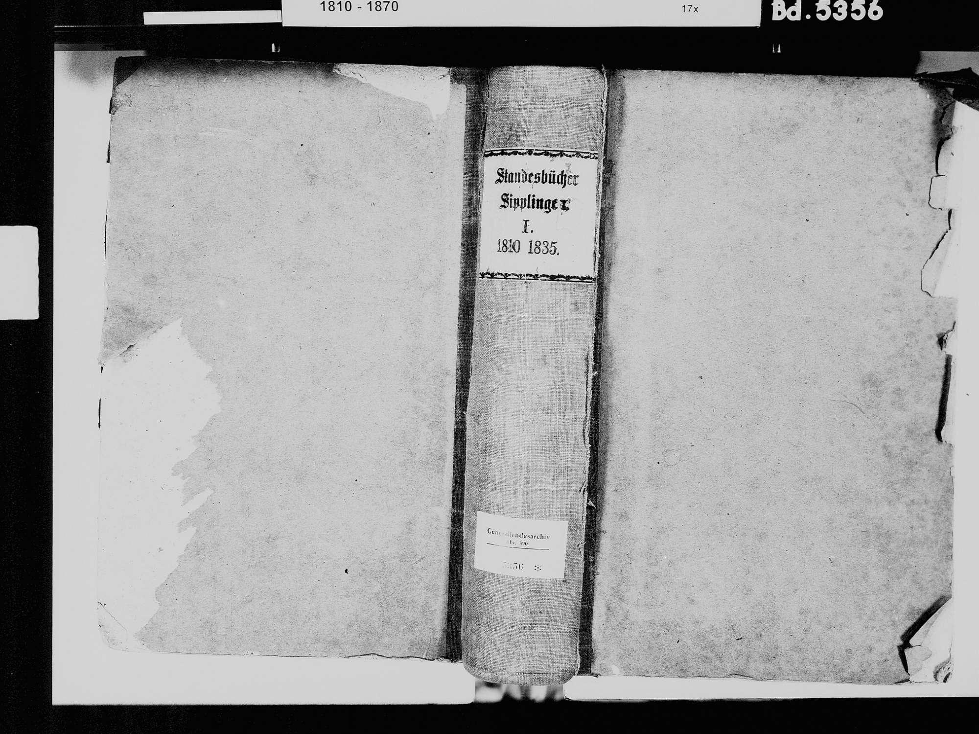 Sipplingen FN; Katholische Gemeinde: Standesbuch 1810-1835, Bild 2