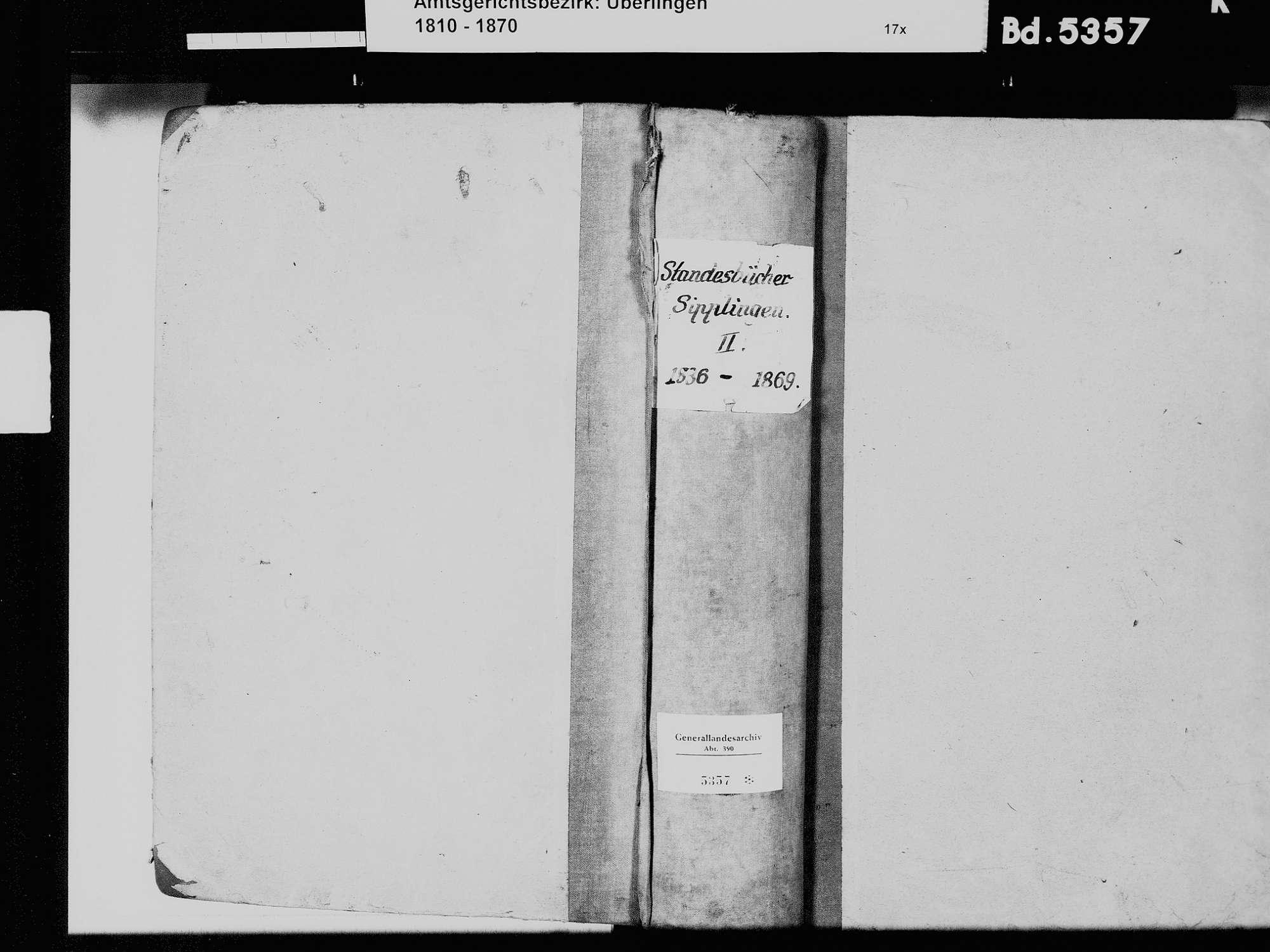 Sipplingen FN; Katholische Gemeinde: Standesbuch 1836-1869, Bild 2