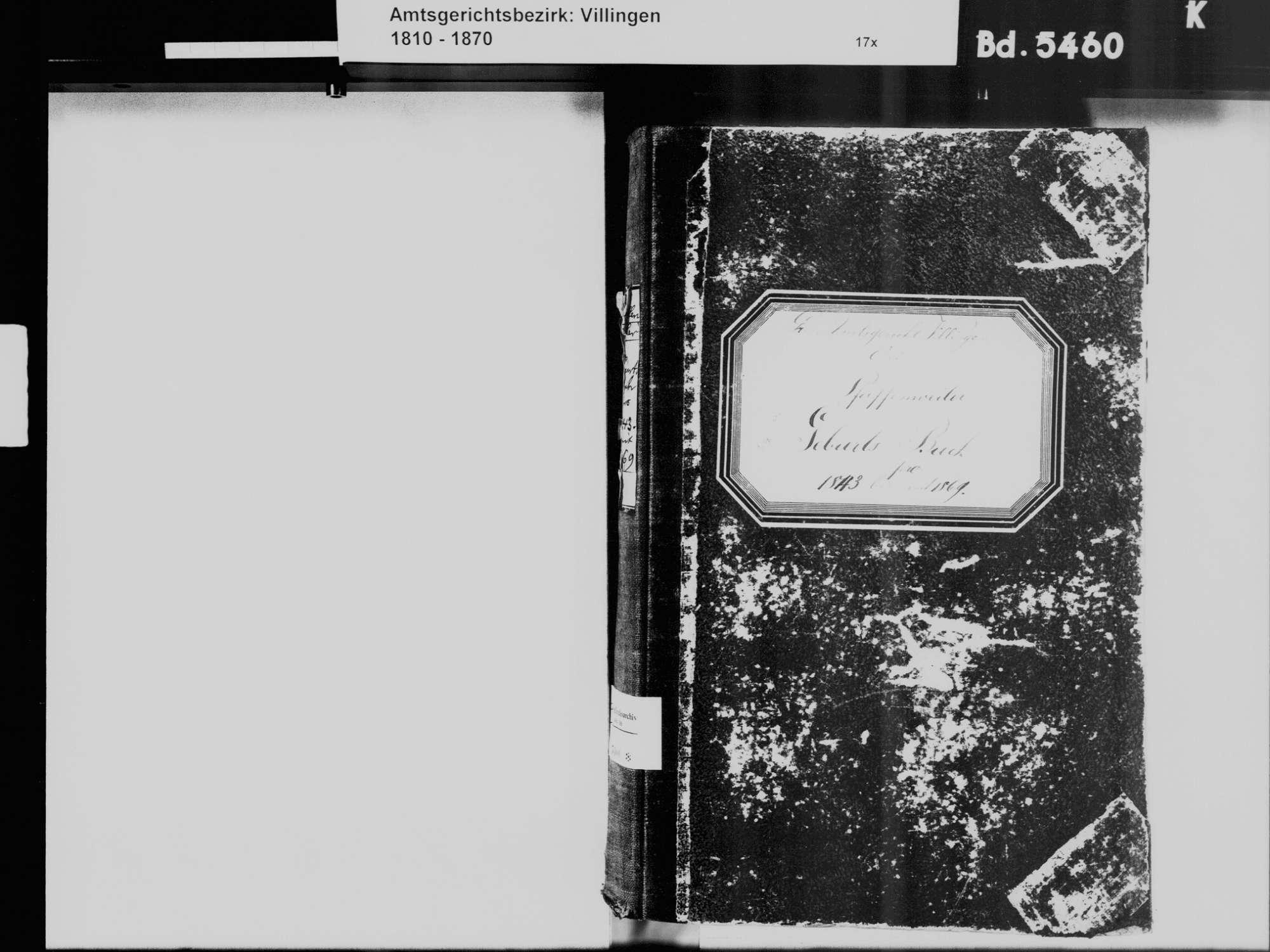 Pfaffenweiler, Villingen-Schwenningen VS; Katholische Gemeinde: Geburtenbuch 1843-1869, Bild 3