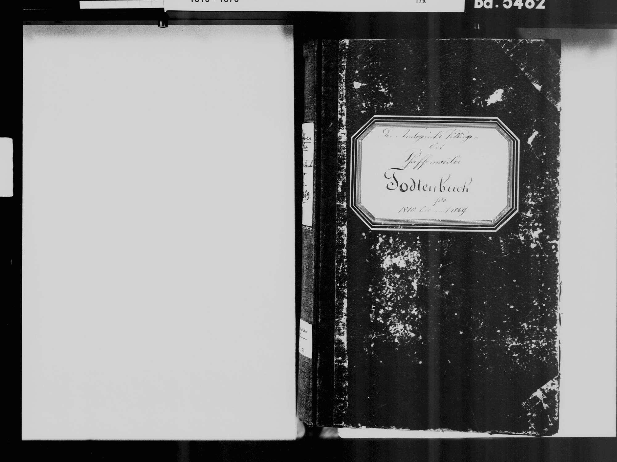 Pfaffenweiler, Villingen-Schwenningen VS; Katholische Gemeinde: Sterbebuch 1810-1869, Bild 3