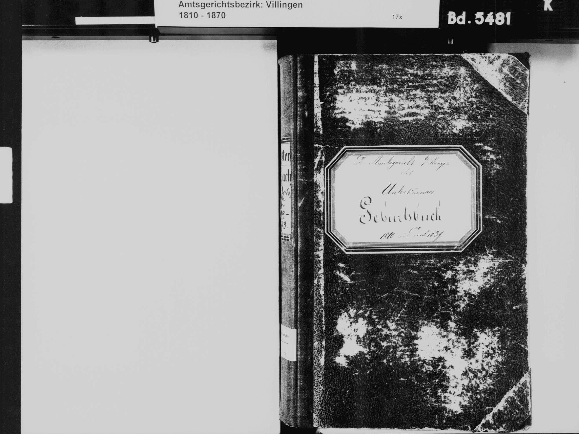 Unterkirnach VS; Katholische Gemeinde: Geburtenbuch 1810-1839, Bild 3