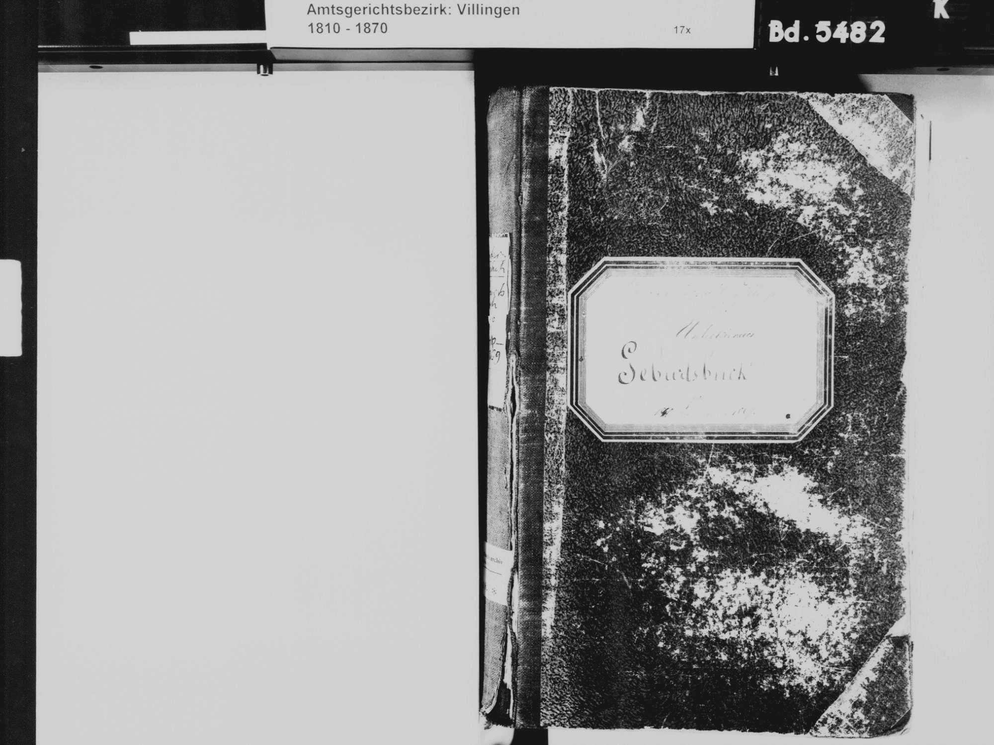 Unterkirnach VS; Katholische Gemeinde: Geburtenbuch 1840-1869, Bild 3