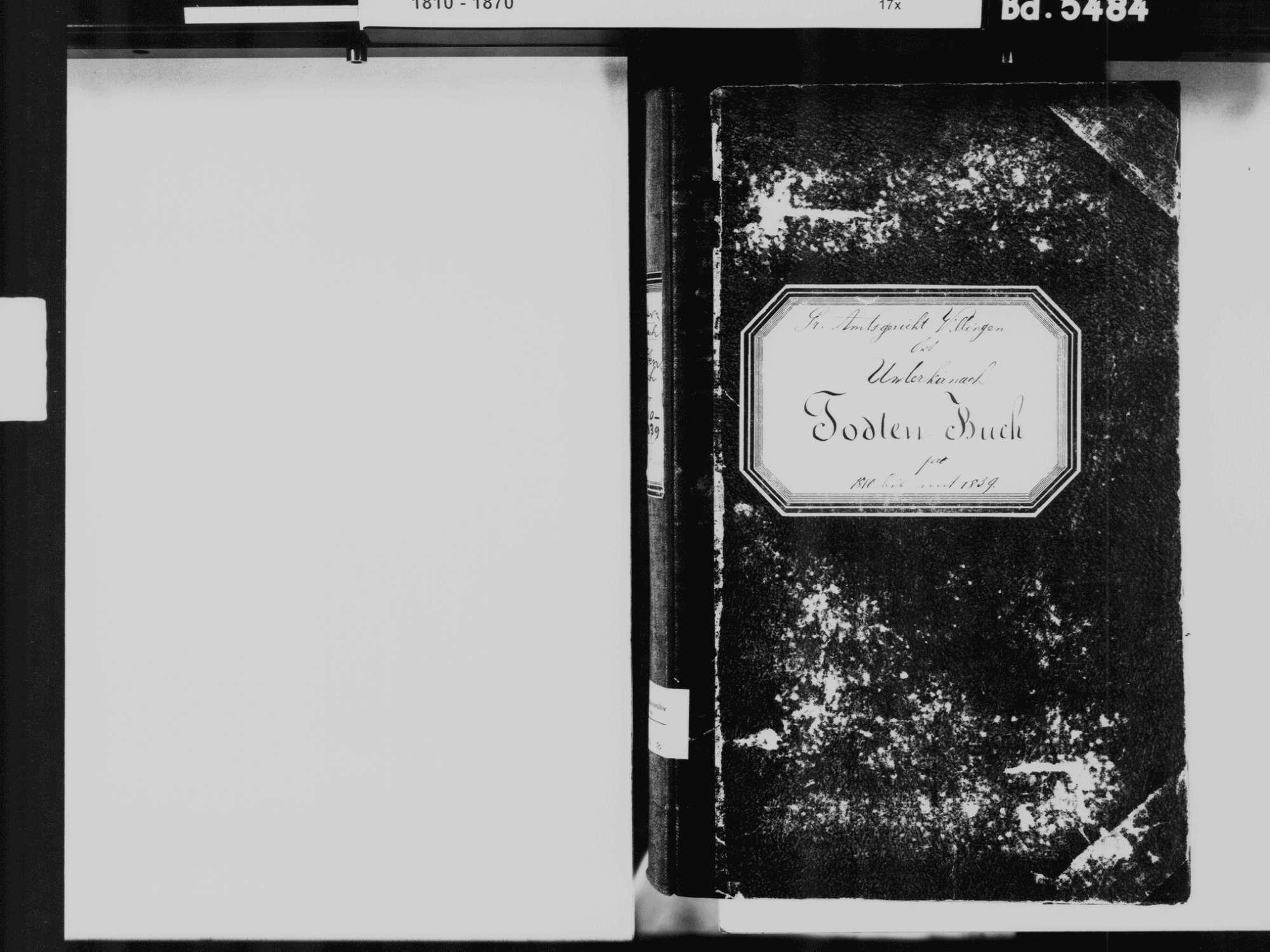 Unterkirnach VS; Katholische Gemeinde: Sterbebuch 1810-1839, Bild 3