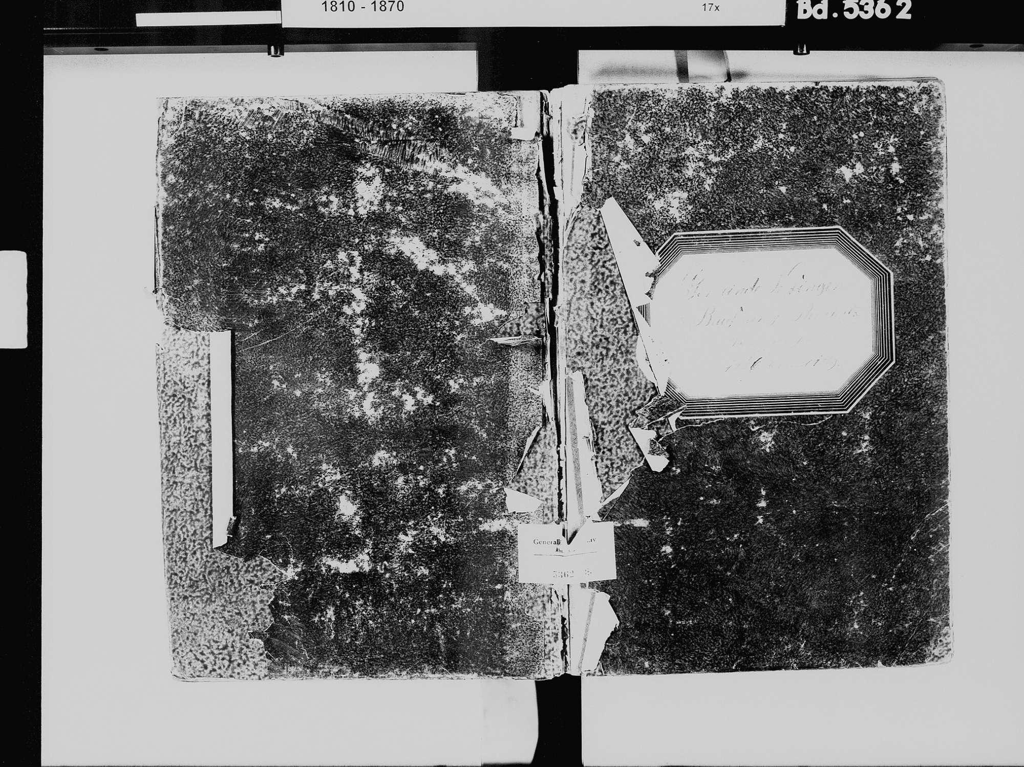 Baufnang, Tüfingen, Salem FN; Katholische Gemeinde: Standesbuch 1810-1865, Bild 2