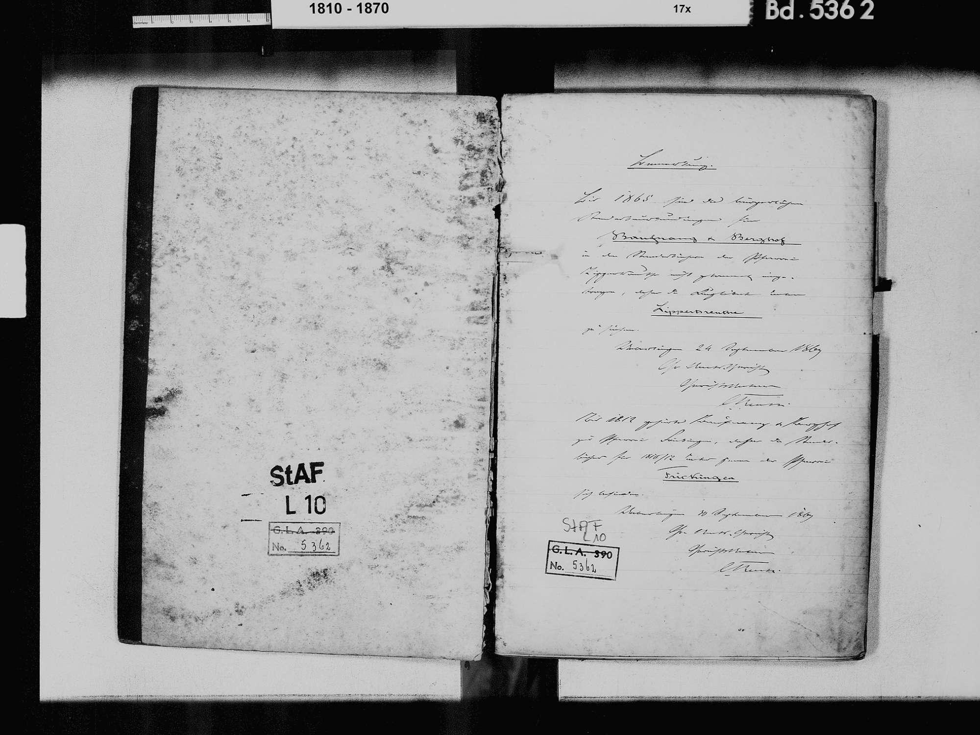 Baufnang, Tüfingen, Salem FN; Katholische Gemeinde: Standesbuch 1810-1865, Bild 3
