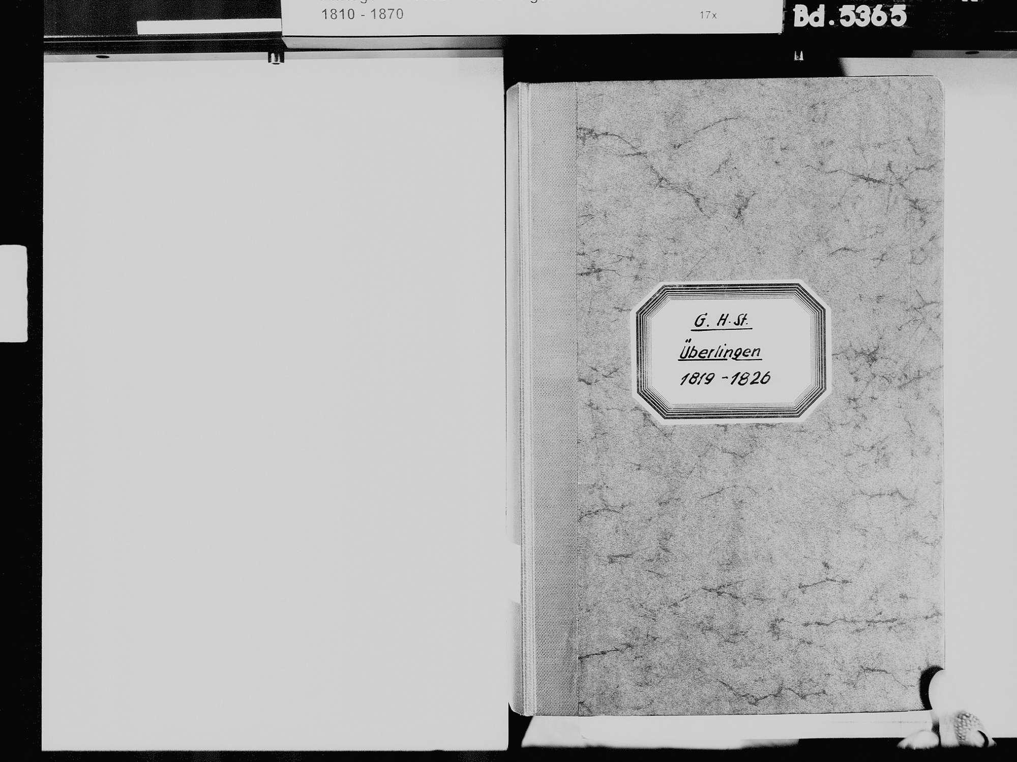 Überlingen FN; Katholische Gemeinde: Standesbuch 1819-1826, Bild 3