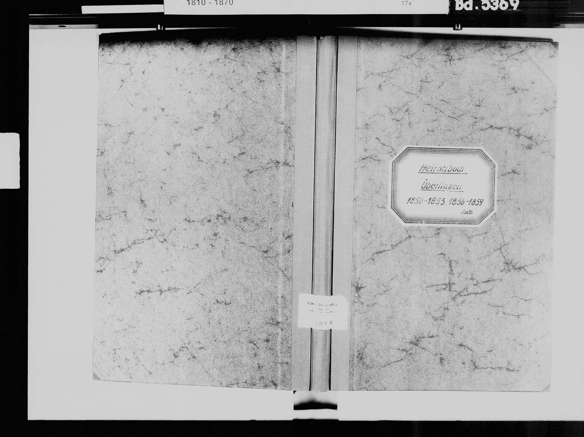 Überlingen FN; Katholische Gemeinde: Heiratsbuch [1842-1859 sind 1945 verloren gegangen], Bild 2