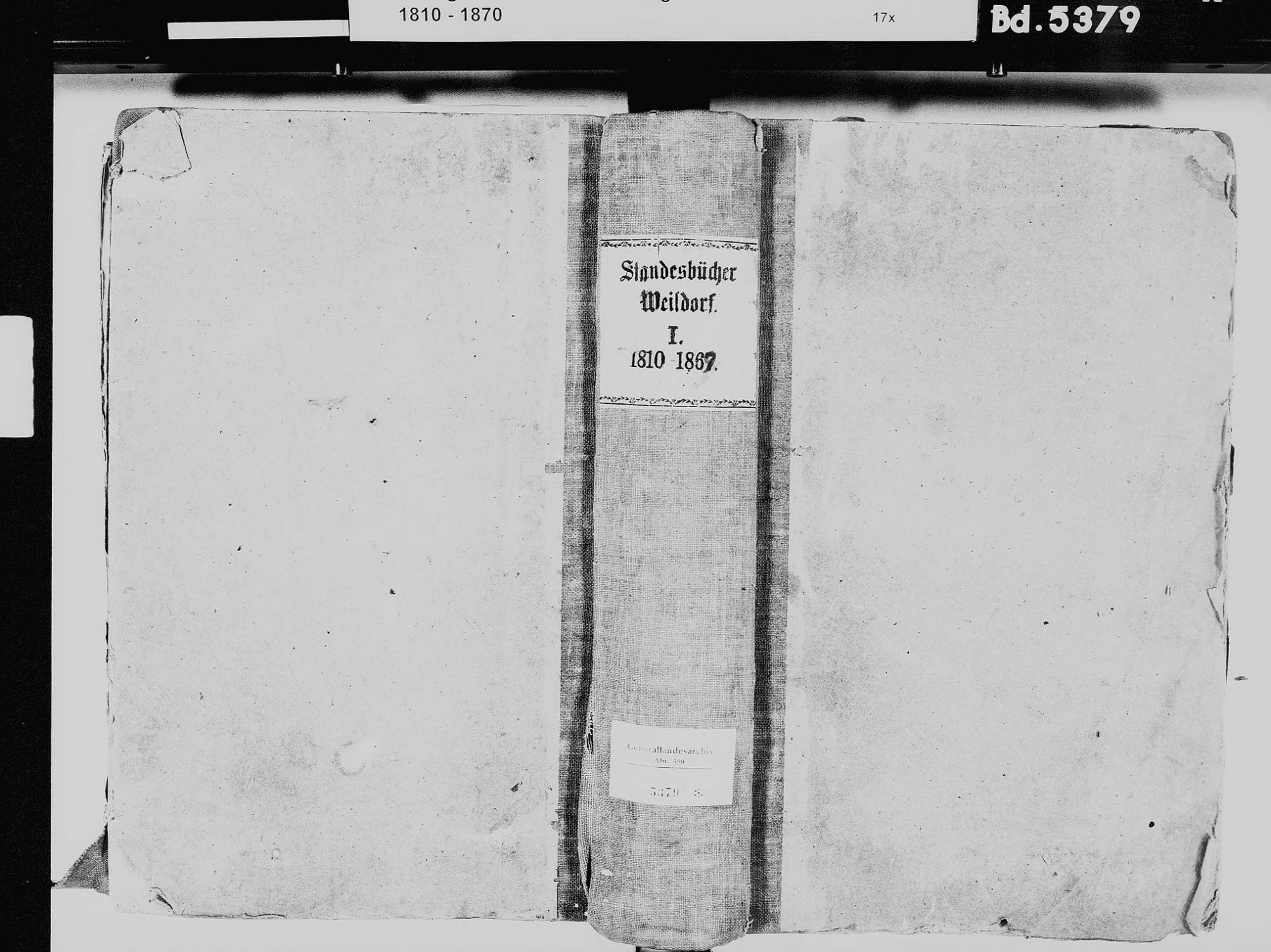 Weildorf, Salem FN; Katholische Gemeinde: Standesbuch 1810-1869, Bild 2