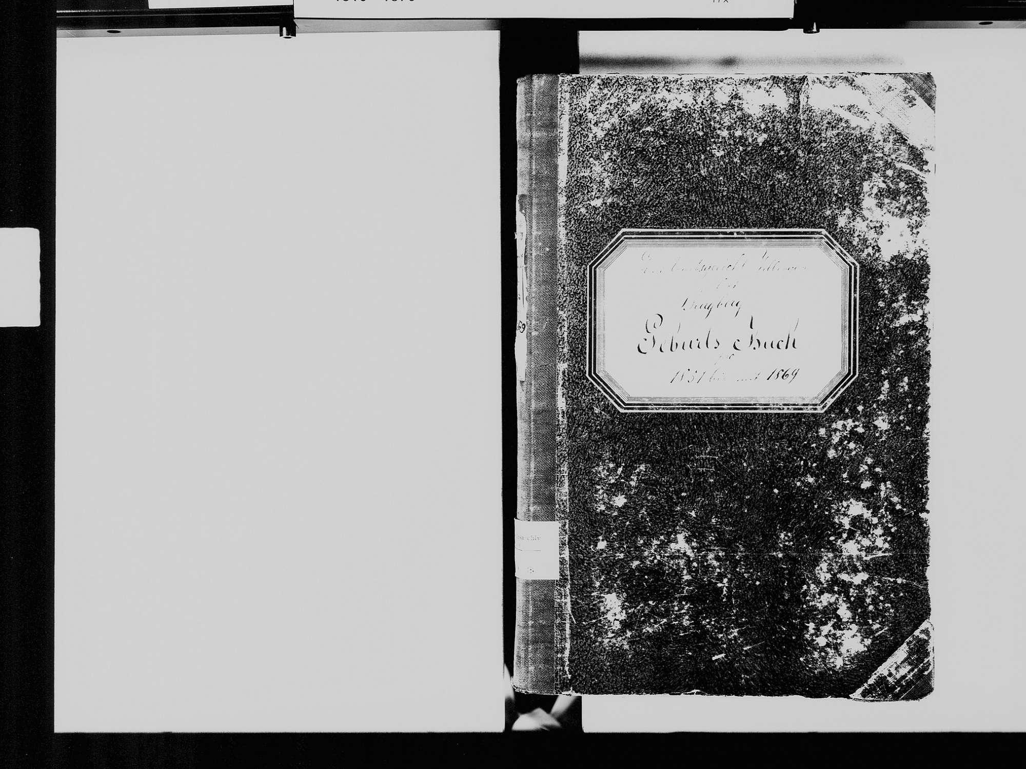 Burgberg, Königsfeld im Schwarzwald VS; Evangelische Gemeinde: Geburtenbuch 1851-1869, Bild 3