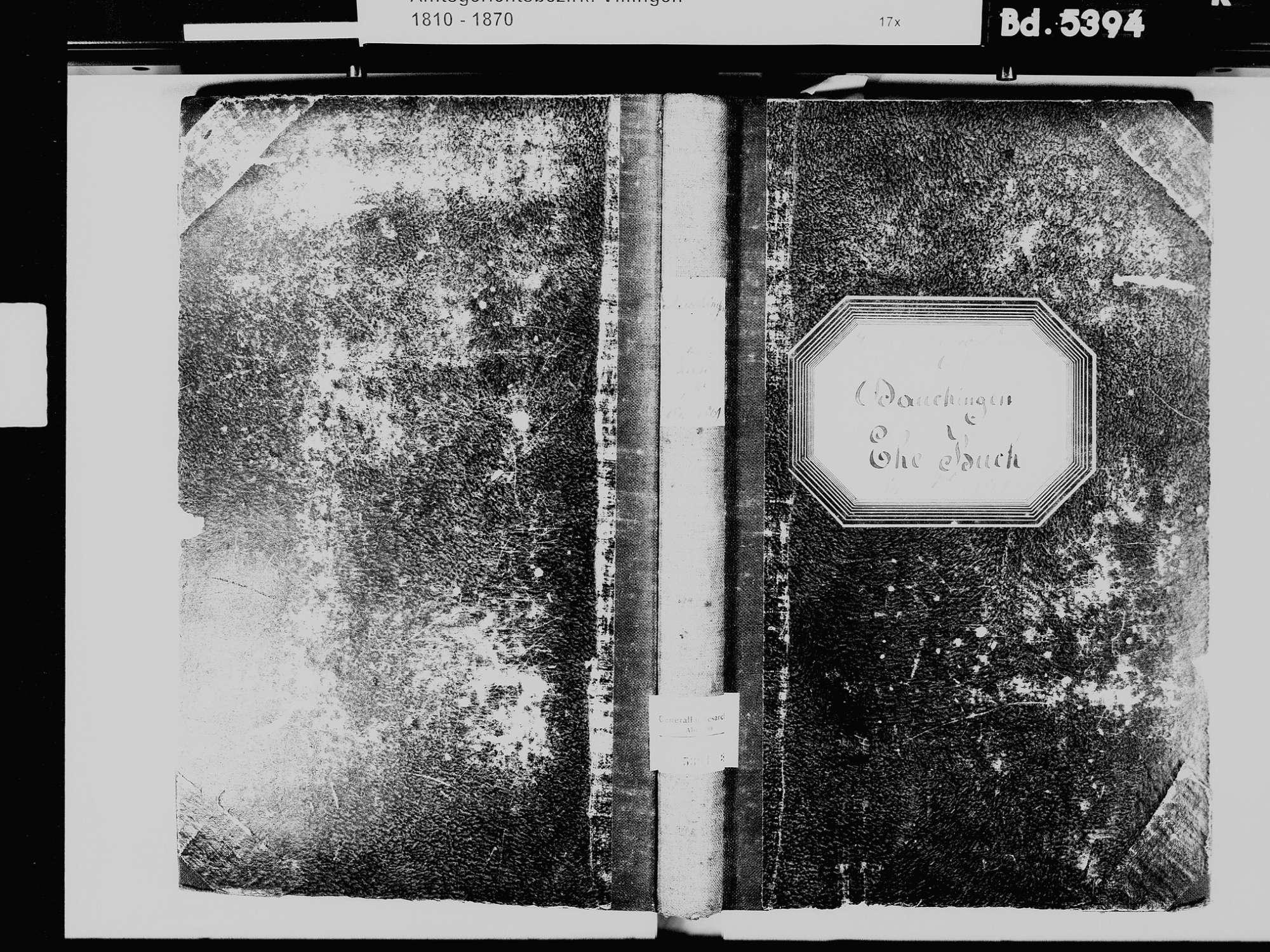 Dauchingen VS; Katholische Gemeinde: Heiratsbuch 1811-1869, Bild 2