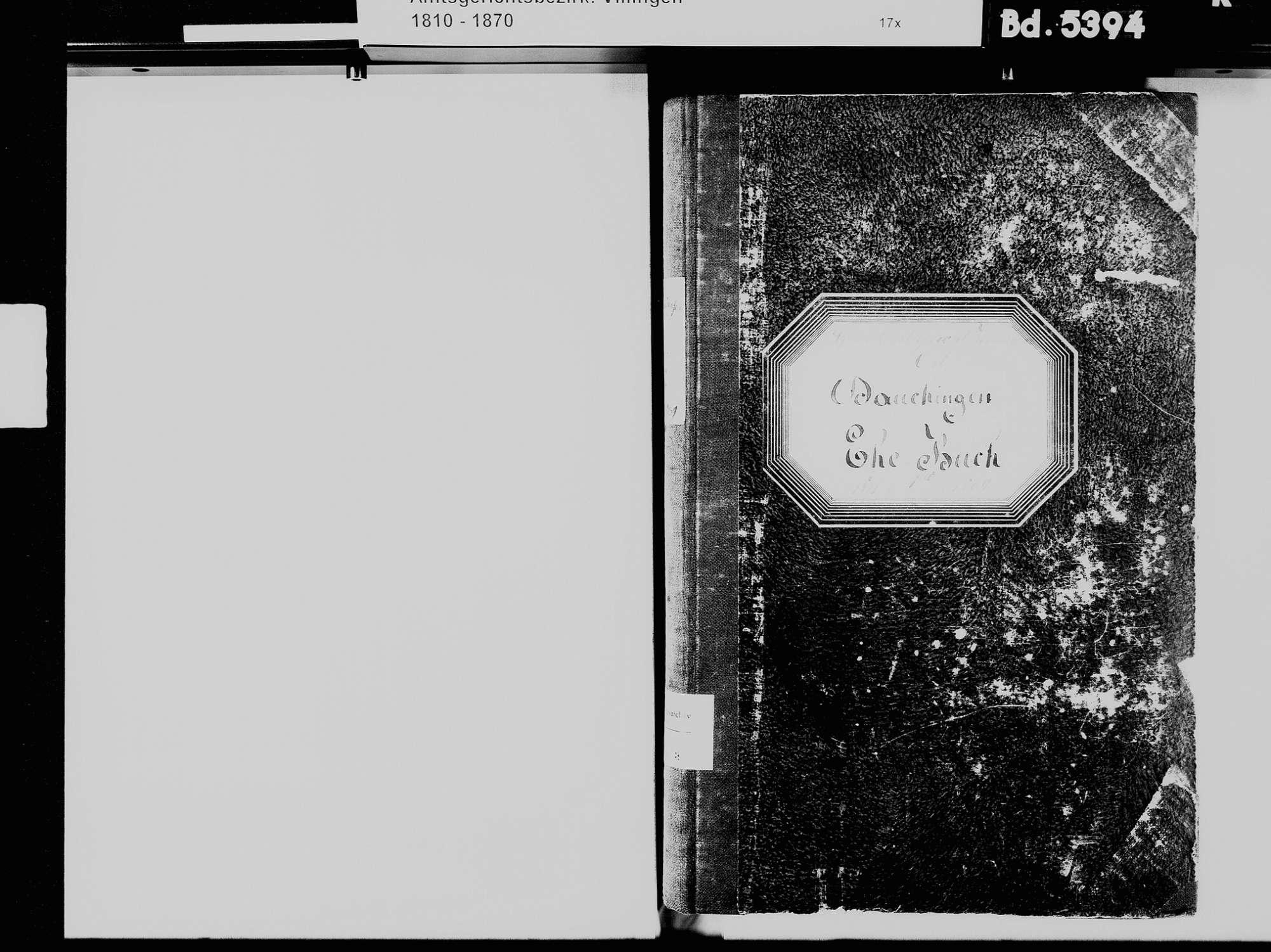Dauchingen VS; Katholische Gemeinde: Heiratsbuch 1811-1869, Bild 3