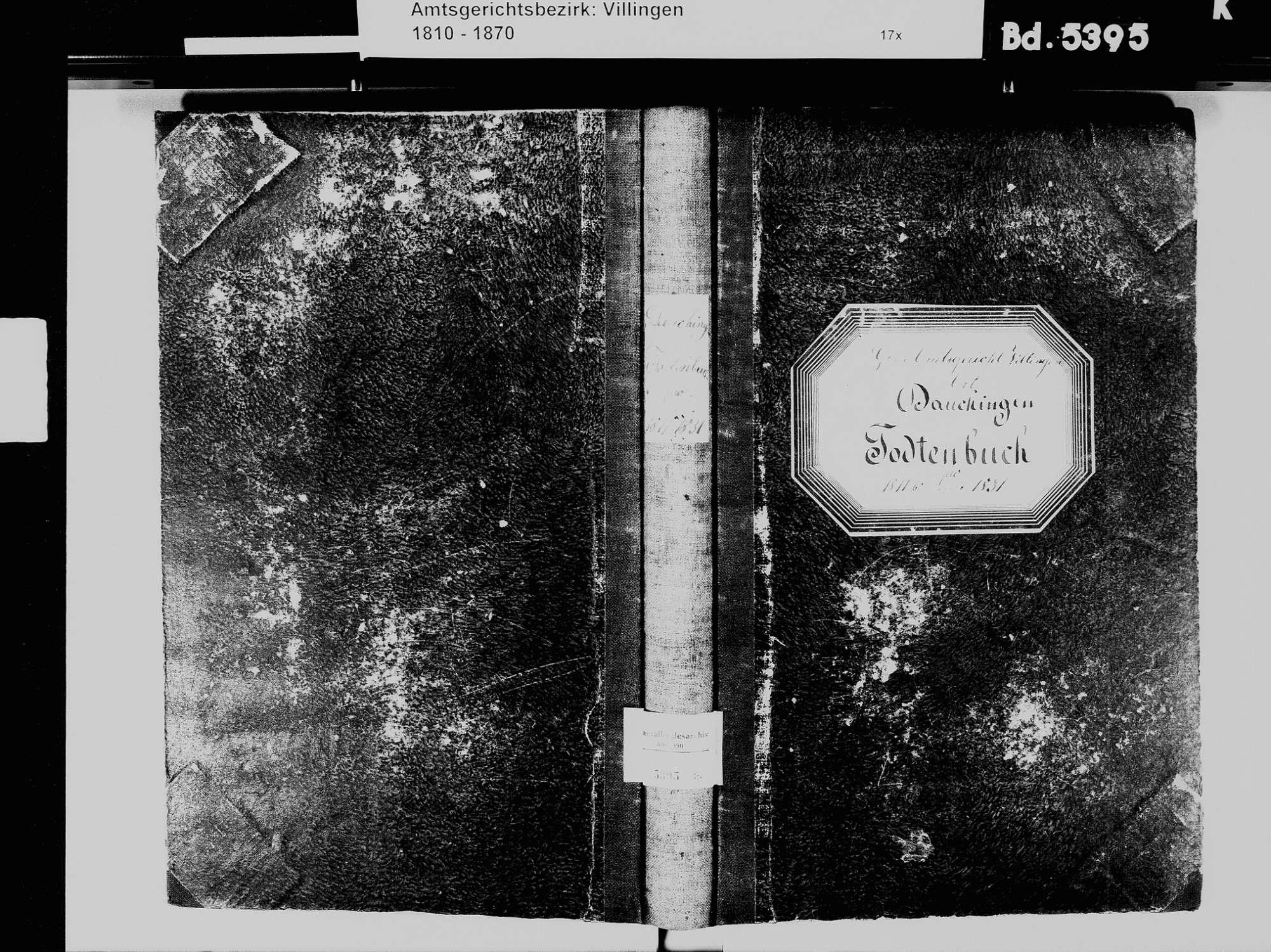 Dauchingen VS; Katholische Gemeinde: Sterbebuch 1811-1831, Bild 2