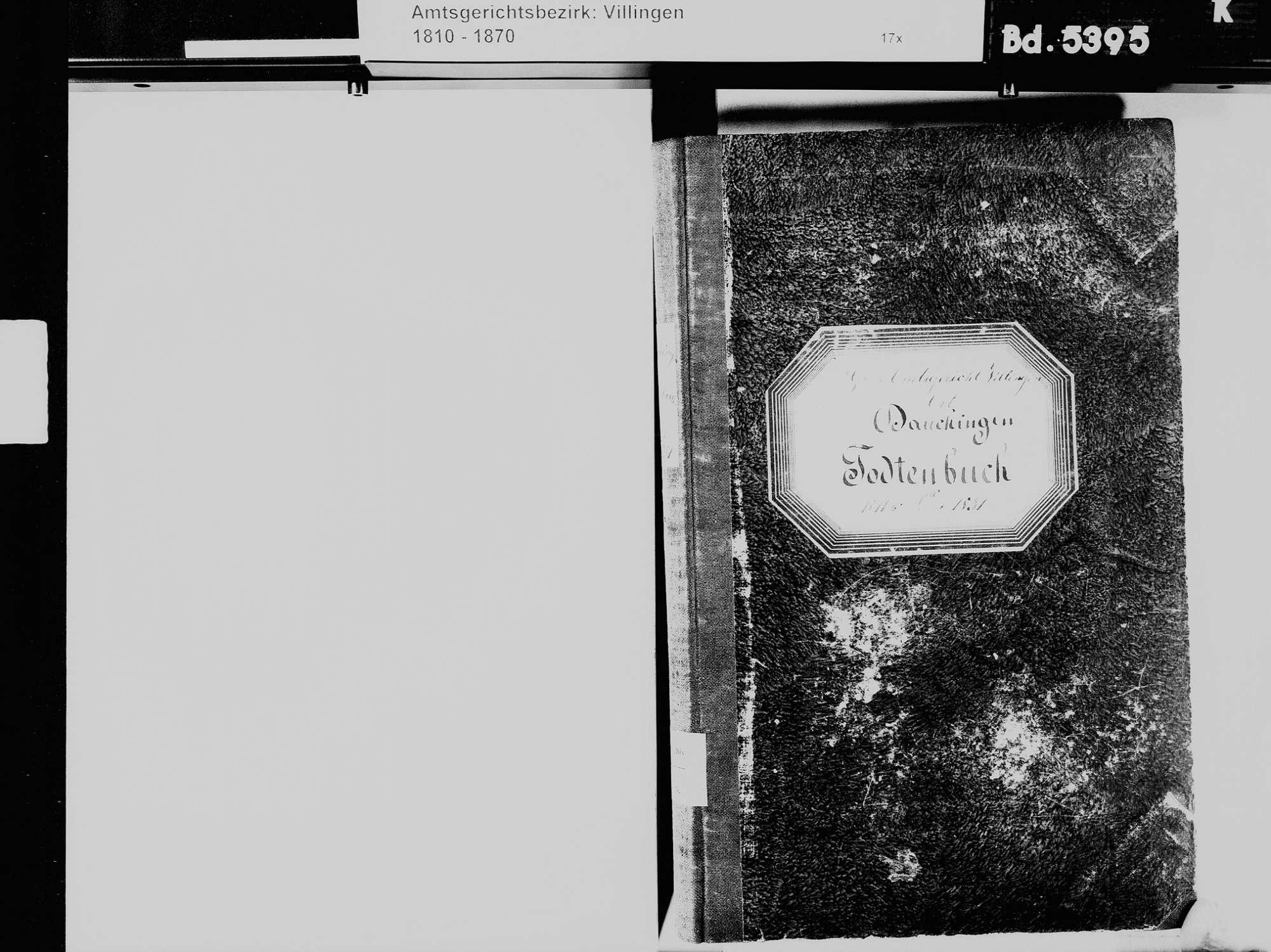 Dauchingen VS; Katholische Gemeinde: Sterbebuch 1811-1831, Bild 3