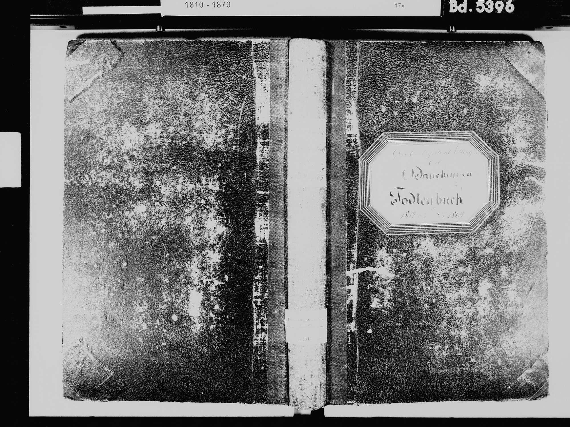 Dauchingen VS; Katholische Gemeinde: Sterbebuch 1832-1869, Bild 2
