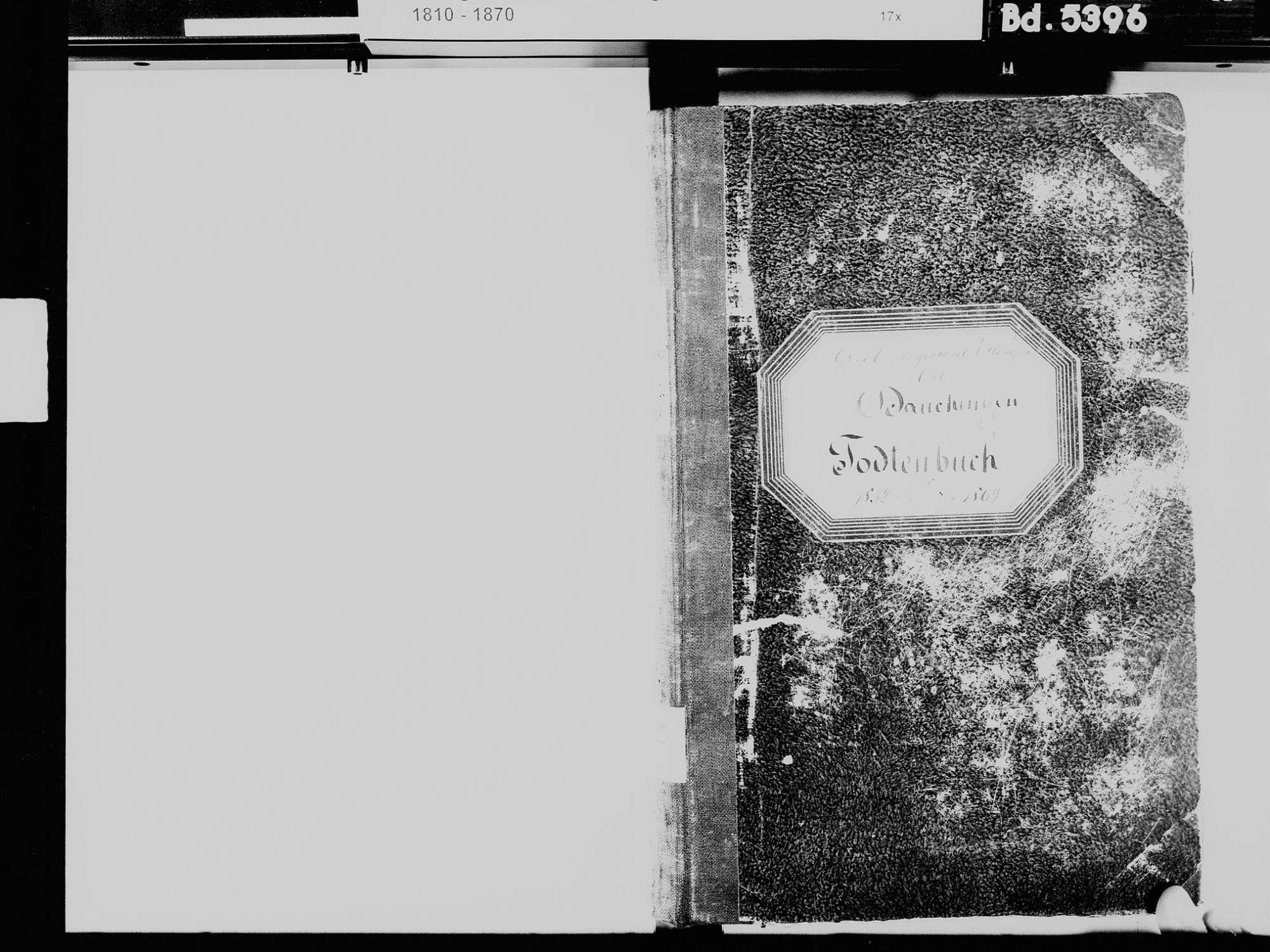 Dauchingen VS; Katholische Gemeinde: Sterbebuch 1832-1869, Bild 3