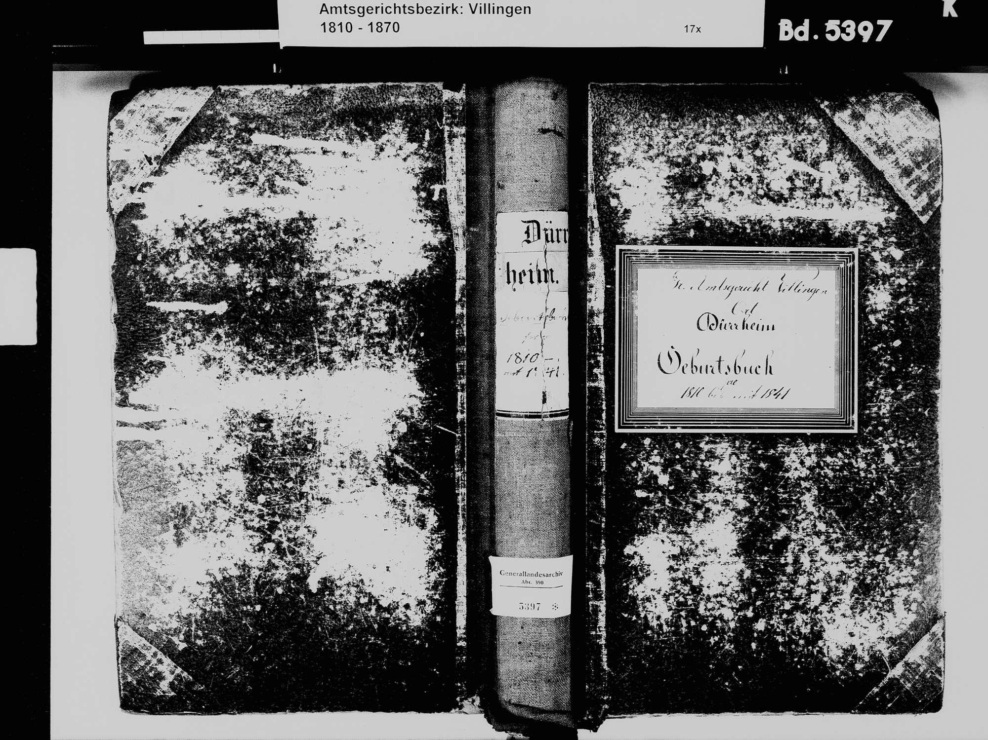 Bad Dürrheim VS; Katholische Gemeinde: Geburtenbuch 1810-1841, Bild 2