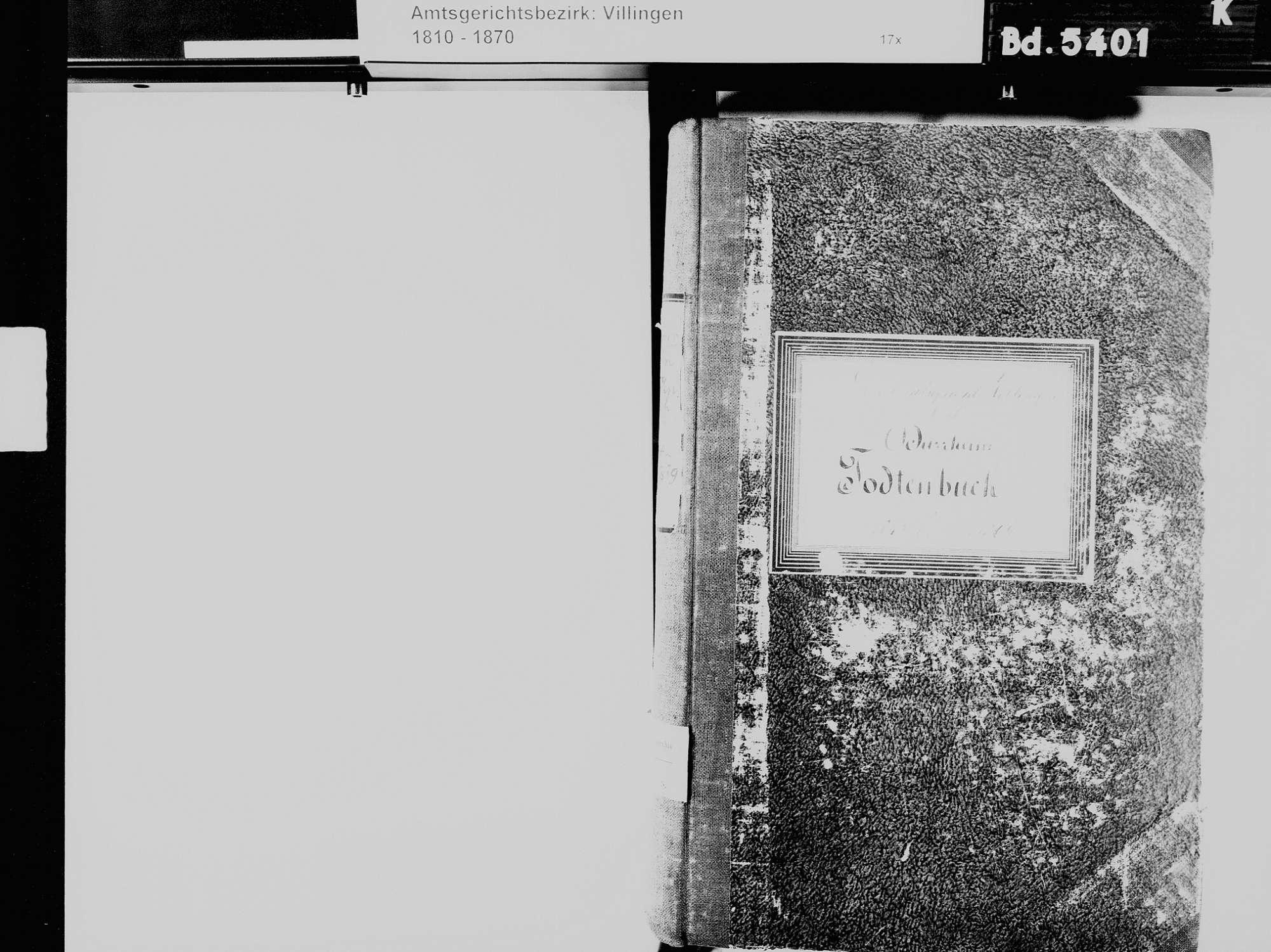 Bad Dürrheim VS; Katholische Gemeinde: Sterbebuch 1842-1869, Bild 3