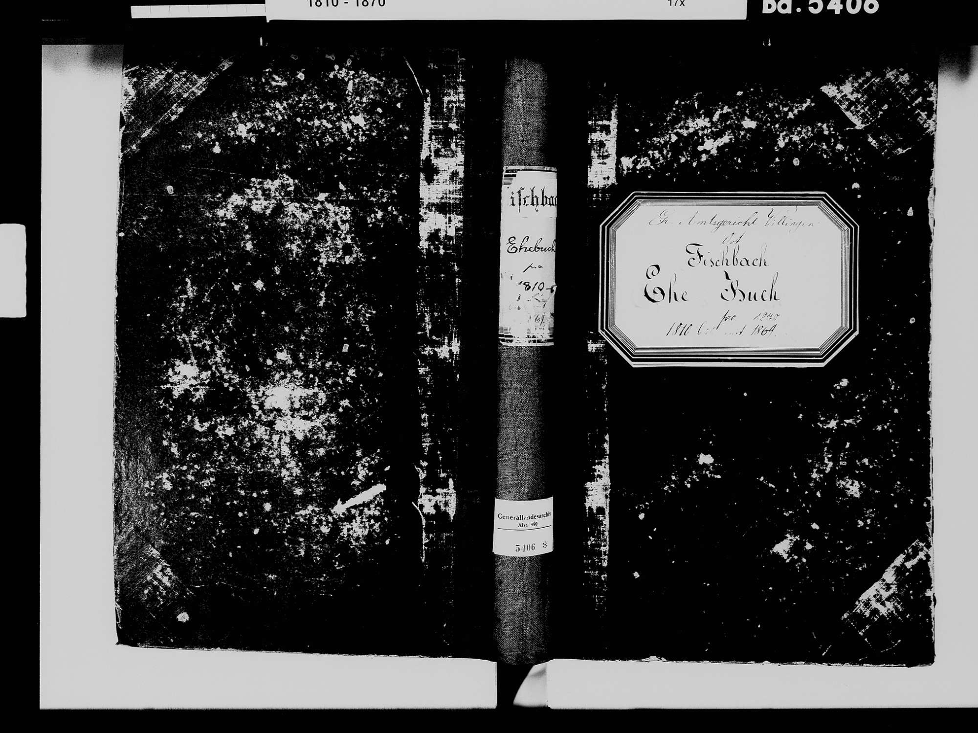 Fischbach, Niedereschach VS; Katholische Gemeinde: Heiratsbuch 1811-1870 Fischbach, Niedereschach VS; Katholische Gemeinde: Sterbebuch 1815-1816, 1846, 1851, Bild 2