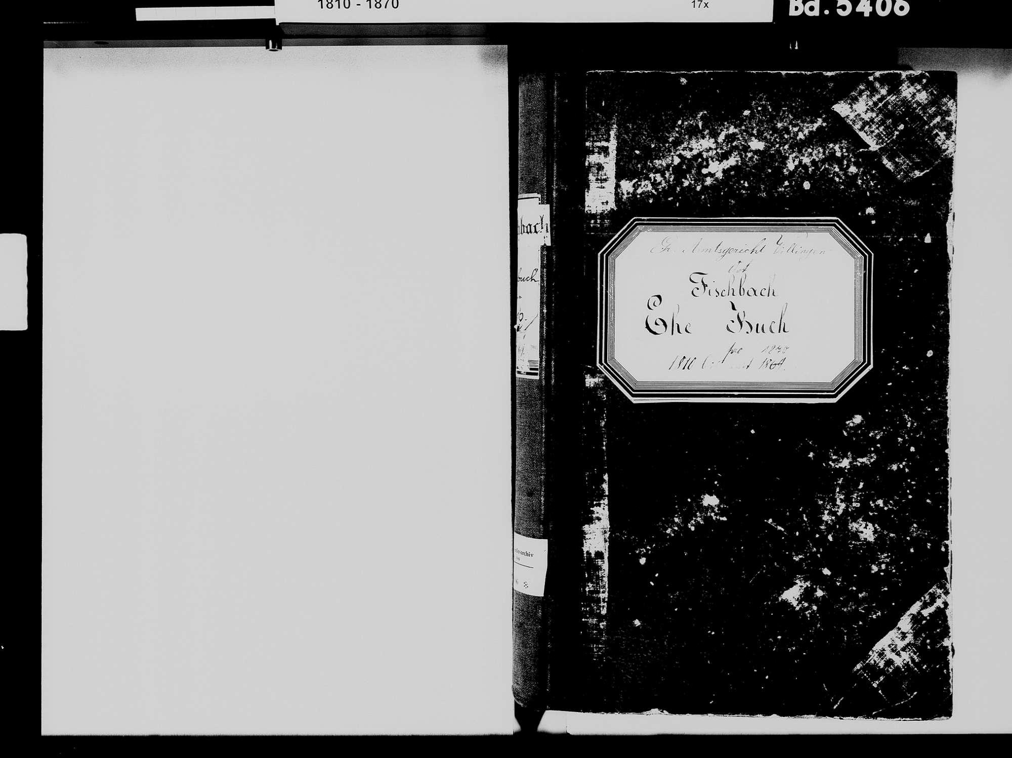 Fischbach, Niedereschach VS; Katholische Gemeinde: Heiratsbuch 1811-1870 Fischbach, Niedereschach VS; Katholische Gemeinde: Sterbebuch 1815-1816, 1846, 1851, Bild 3