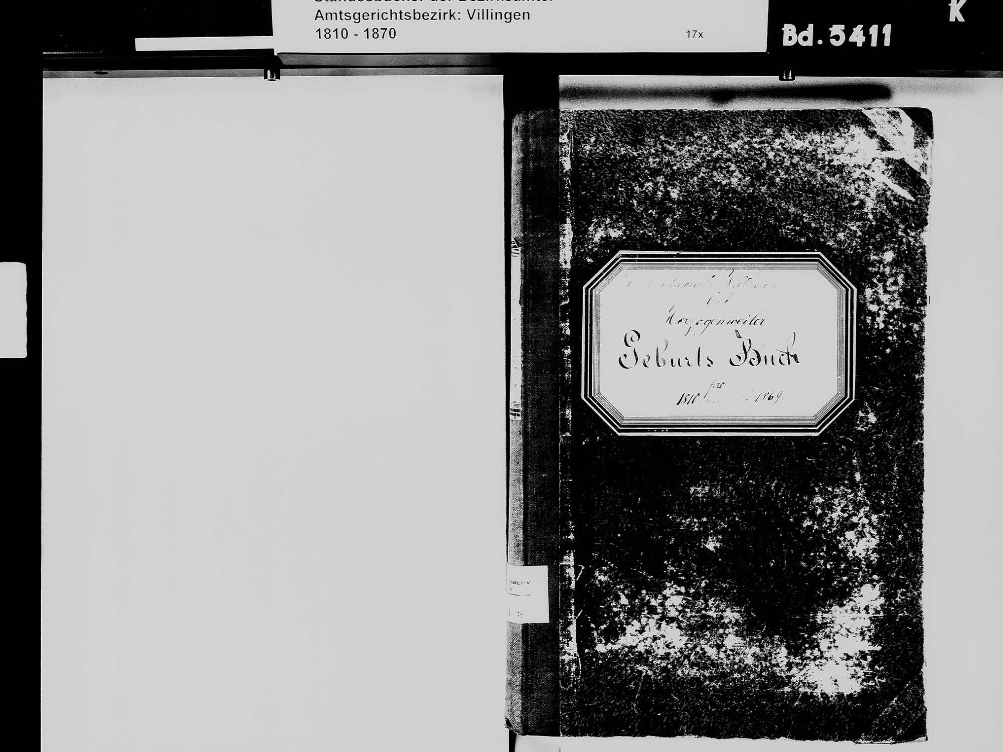 Herzogenweiler, Villingen-Schwenningen VS; Katholische Gemeinde: Geburtenbuch 1810-1869 Herzogenweiler, Villingen-Schwenningen VS; Katholische Gemeinde: Heiratsbuch 1813-1819 Herzogenweiler, Villingen-Schwenningen VS; Katholische Gemeinde: Sterbebuch 1814-1819, Bild 3