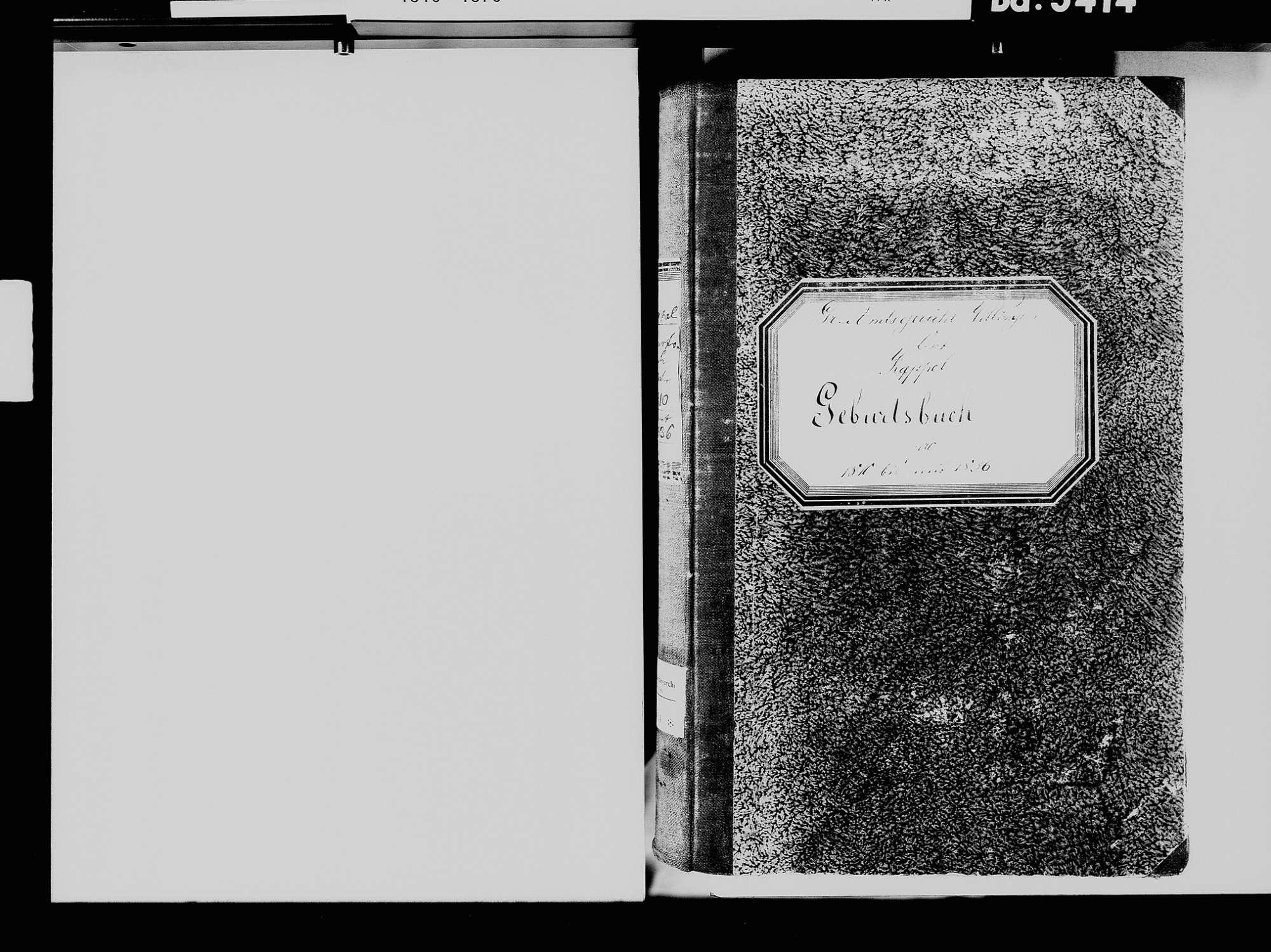 Kappel, Niedereschach VS; Katholische Gemeinde: Geburtenbuch 1810-1836, Bild 3