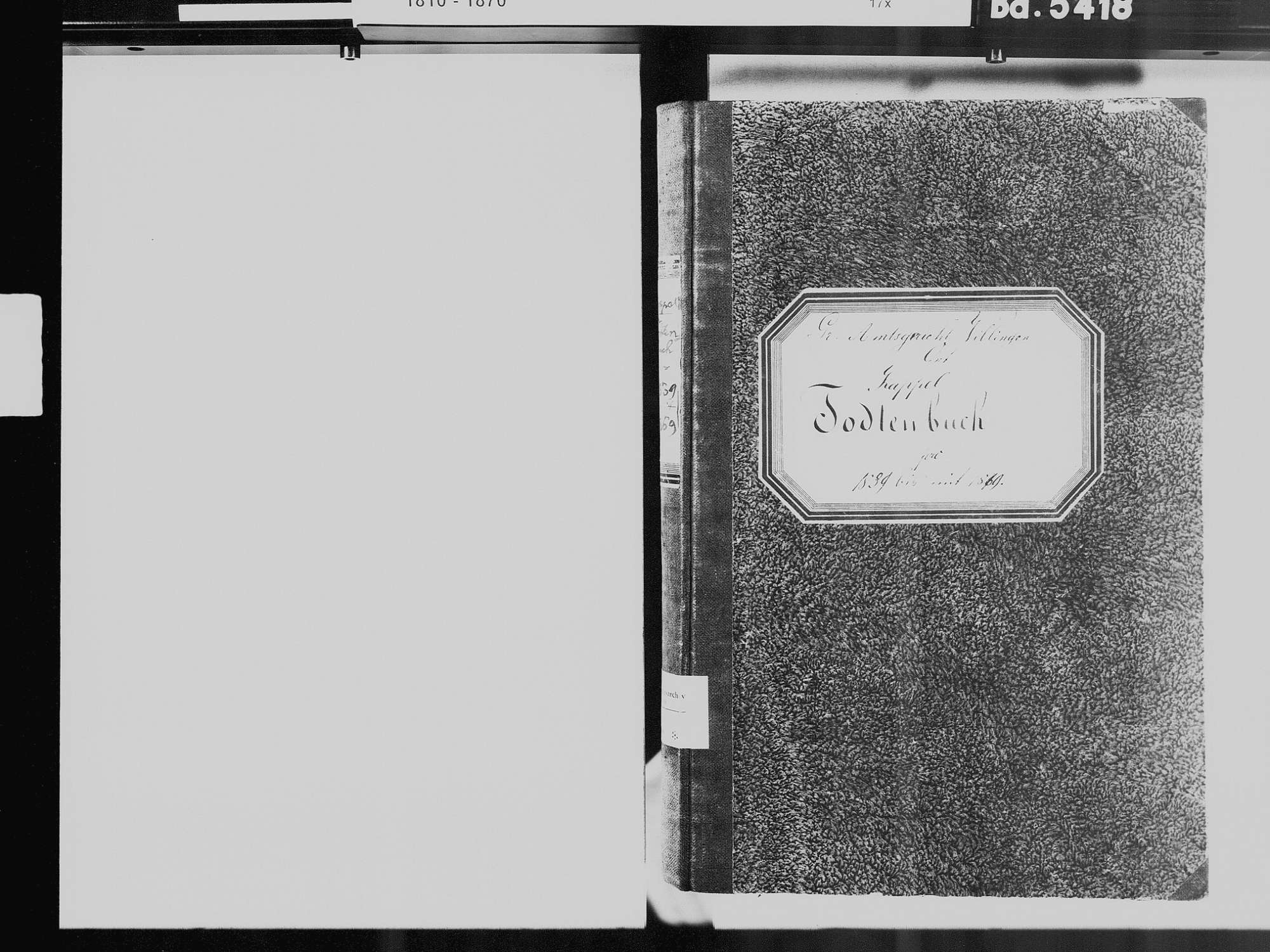 Kappel, Niedereschach VS; Katholische Gemeinde: Sterbebuch 1839-1869, Bild 3