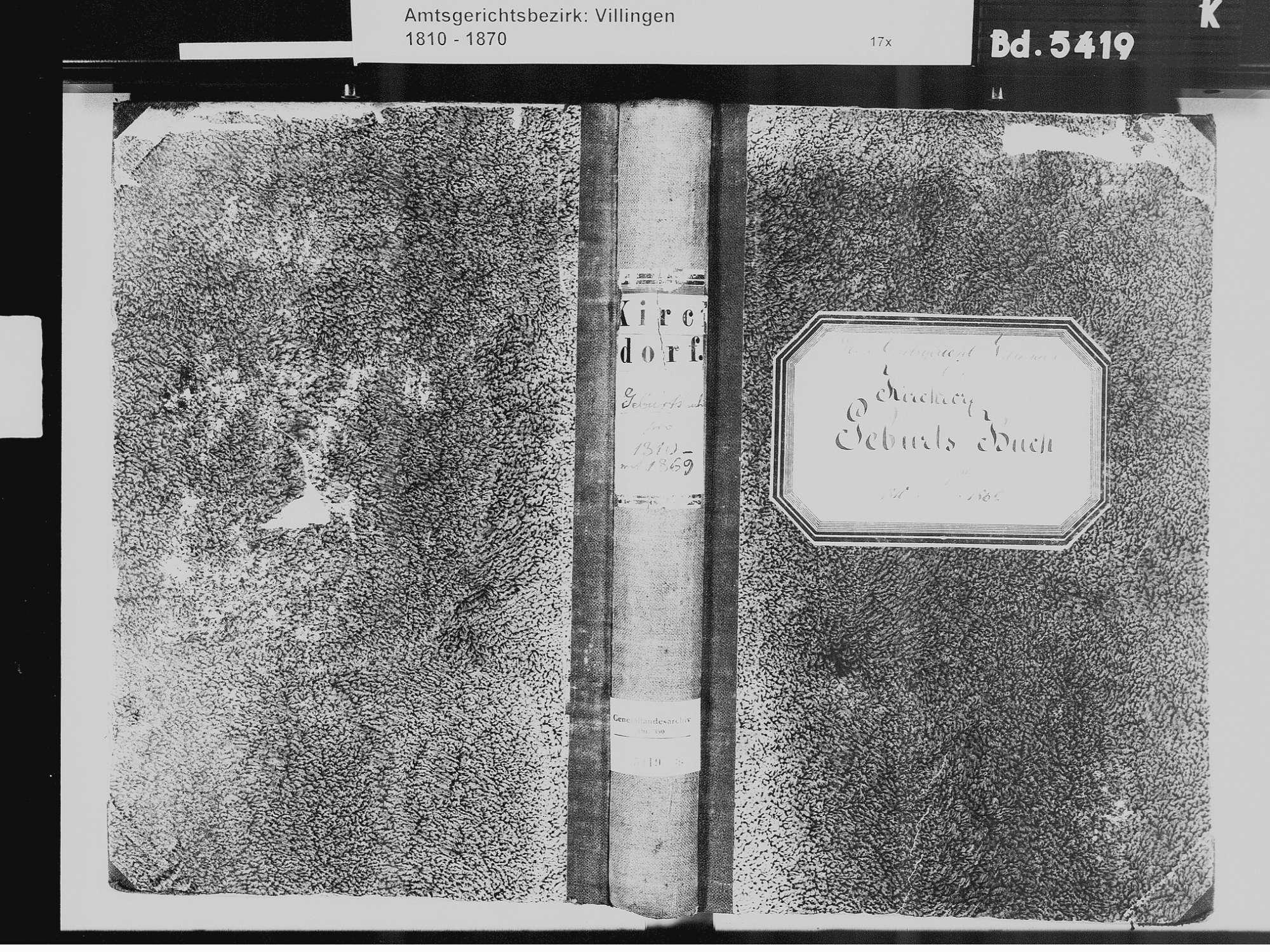 Kirchdorf, Brigachtal VS; Katholische Gemeinde: Geburtenbuch 1810-1869 Kirchdorf, Brigachtal VS; Katholische Gemeinde: Sterbebuch 1819, Bild 2