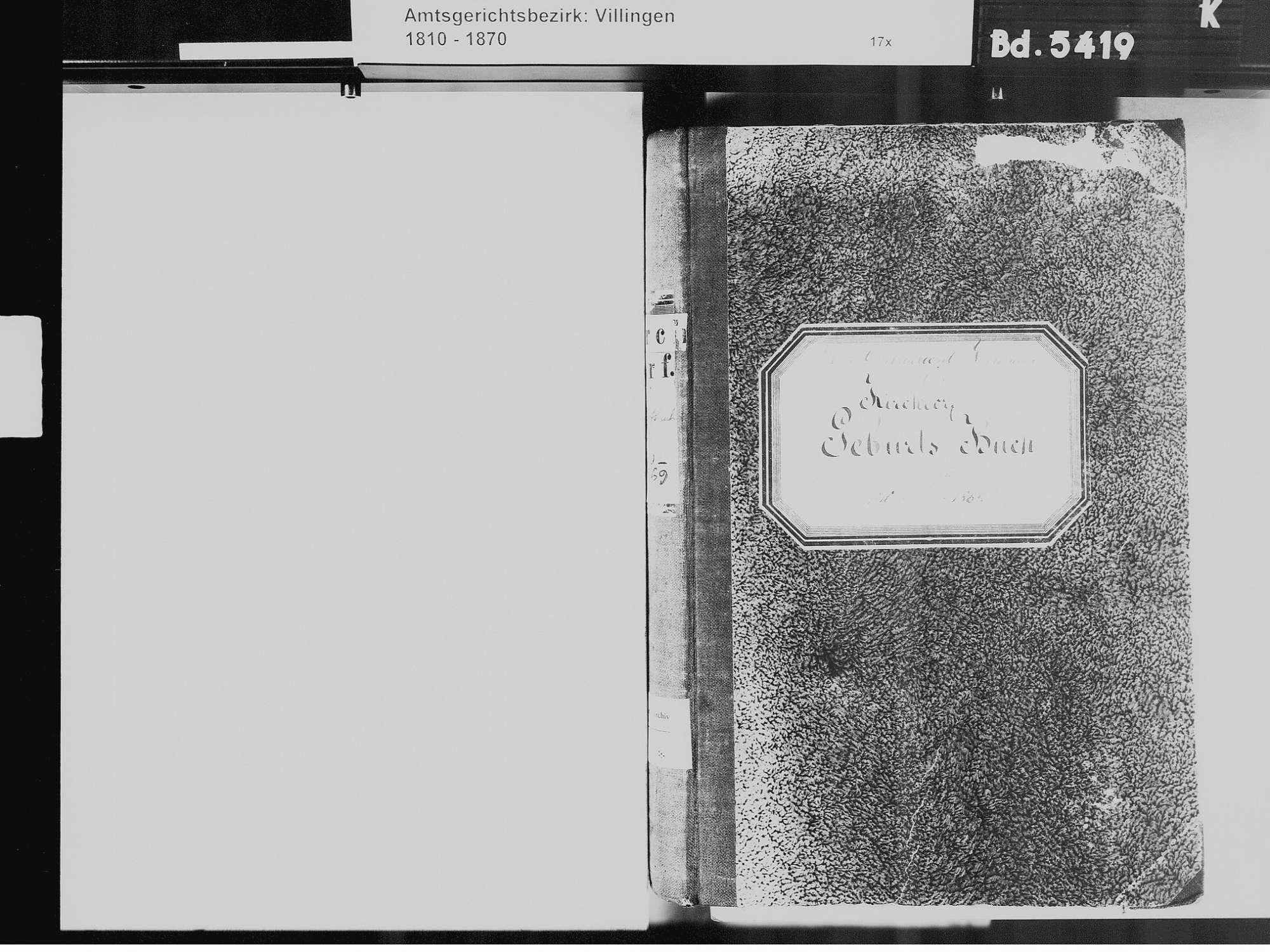 Kirchdorf, Brigachtal VS; Katholische Gemeinde: Geburtenbuch 1810-1869 Kirchdorf, Brigachtal VS; Katholische Gemeinde: Sterbebuch 1819, Bild 3