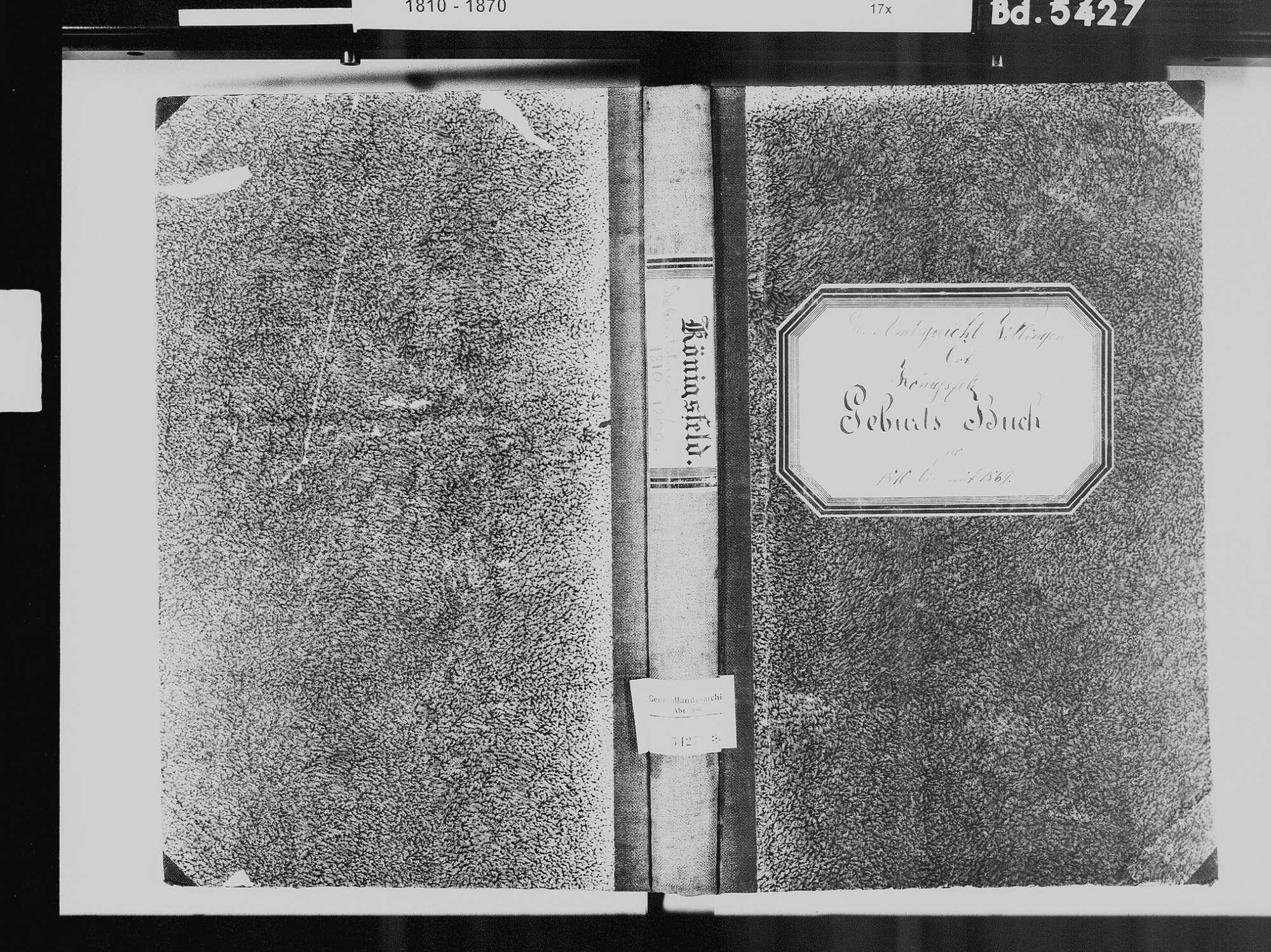 Königsfeld im Schwarzwald VS; Evangelische Gemeinde: Geburtenbuch 1810-1869 Königsfeld im Schwarzwald VS; Evangelische Gemeinde: Sterbebuch 1812-1813, 1815-1816, Bild 2
