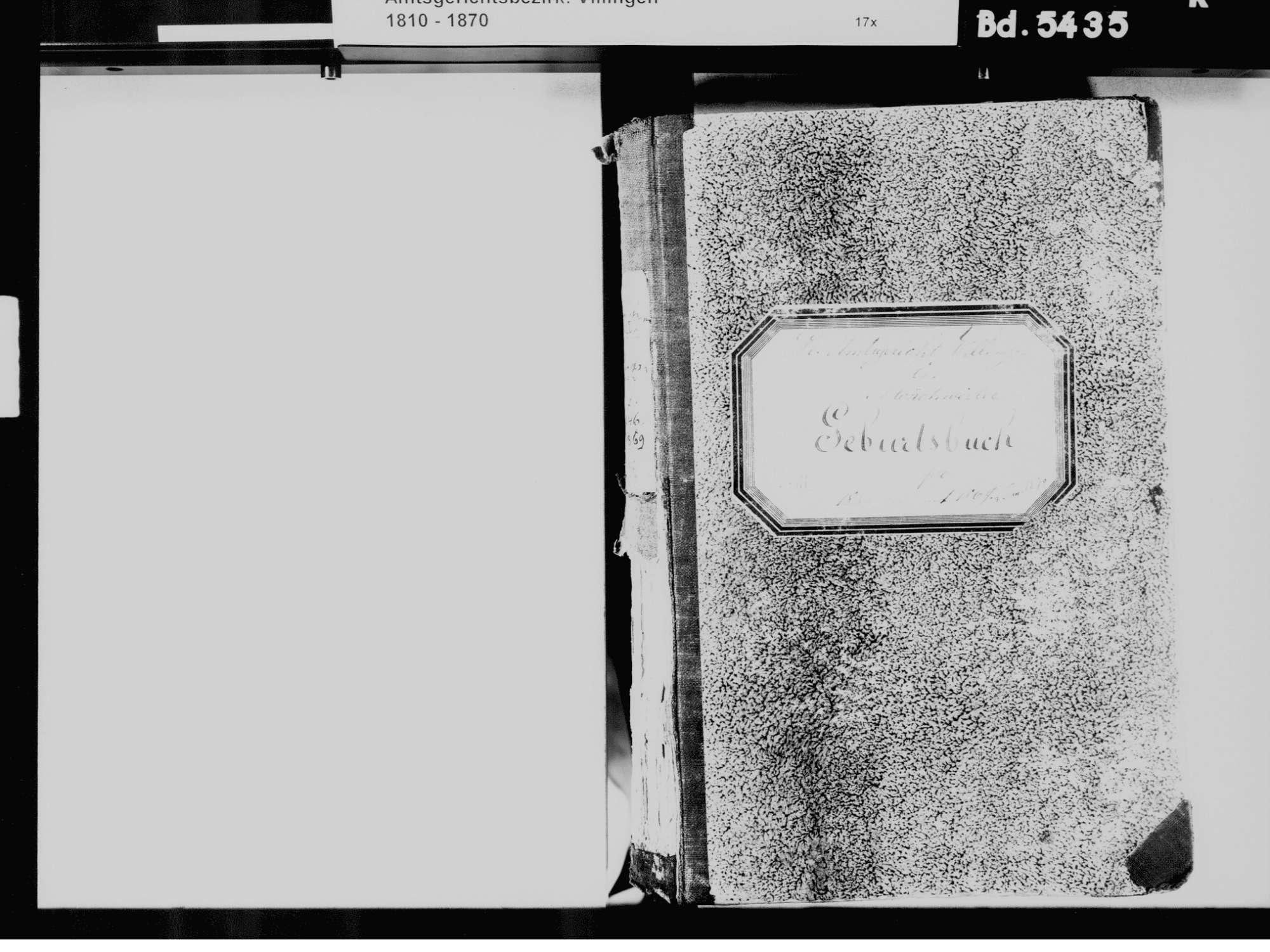 Mönchweiler VS; Evangelische Gemeinde: Geburtenbuch 1846-1870, Bild 3