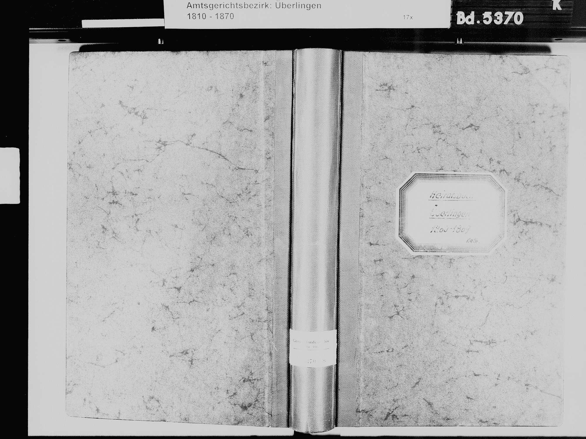 Überlingen FN; Katholische Gemeinde: Heiratsbuch 1860-1869, Bild 2