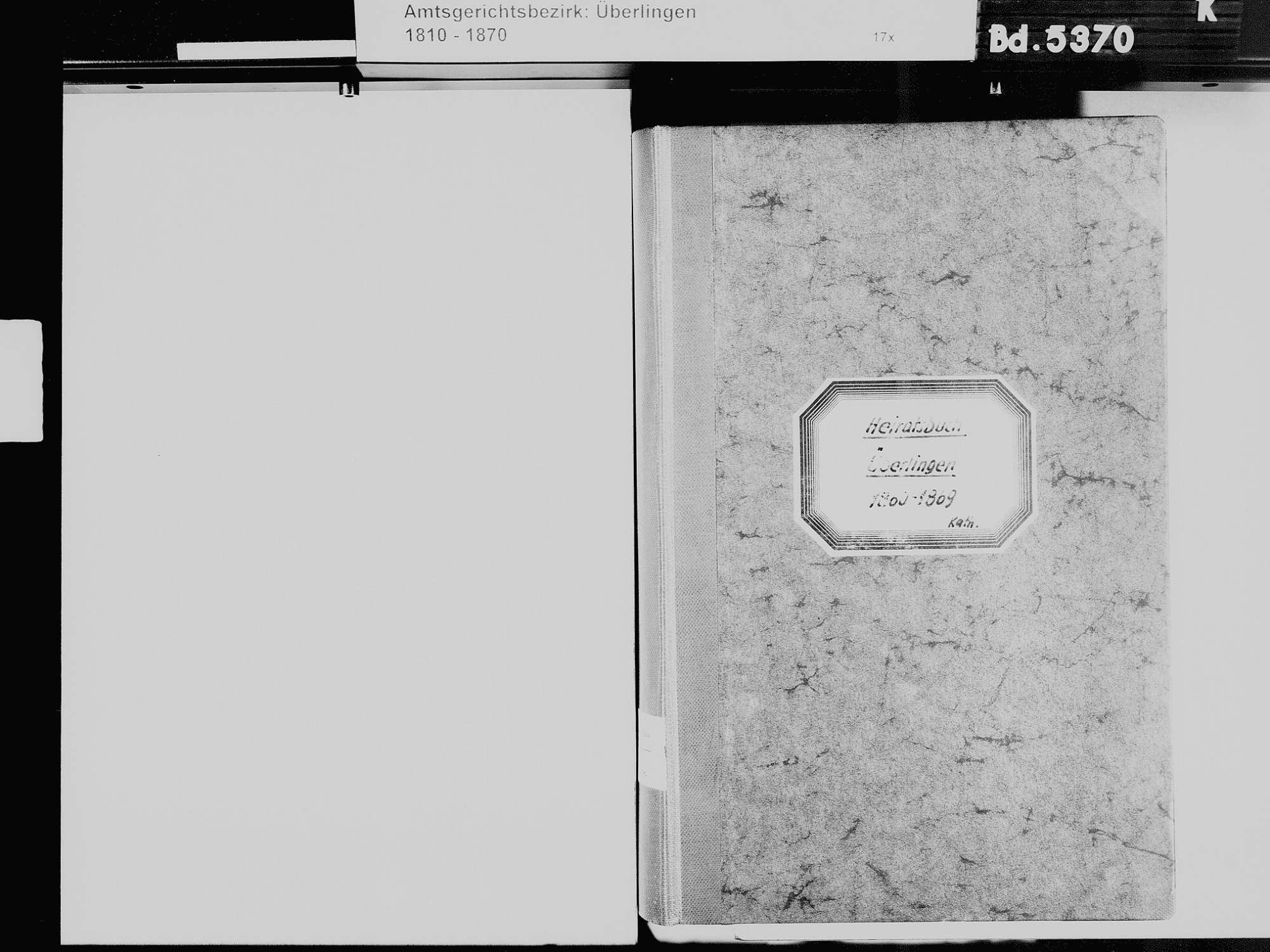 Überlingen FN; Katholische Gemeinde: Heiratsbuch 1860-1869, Bild 3