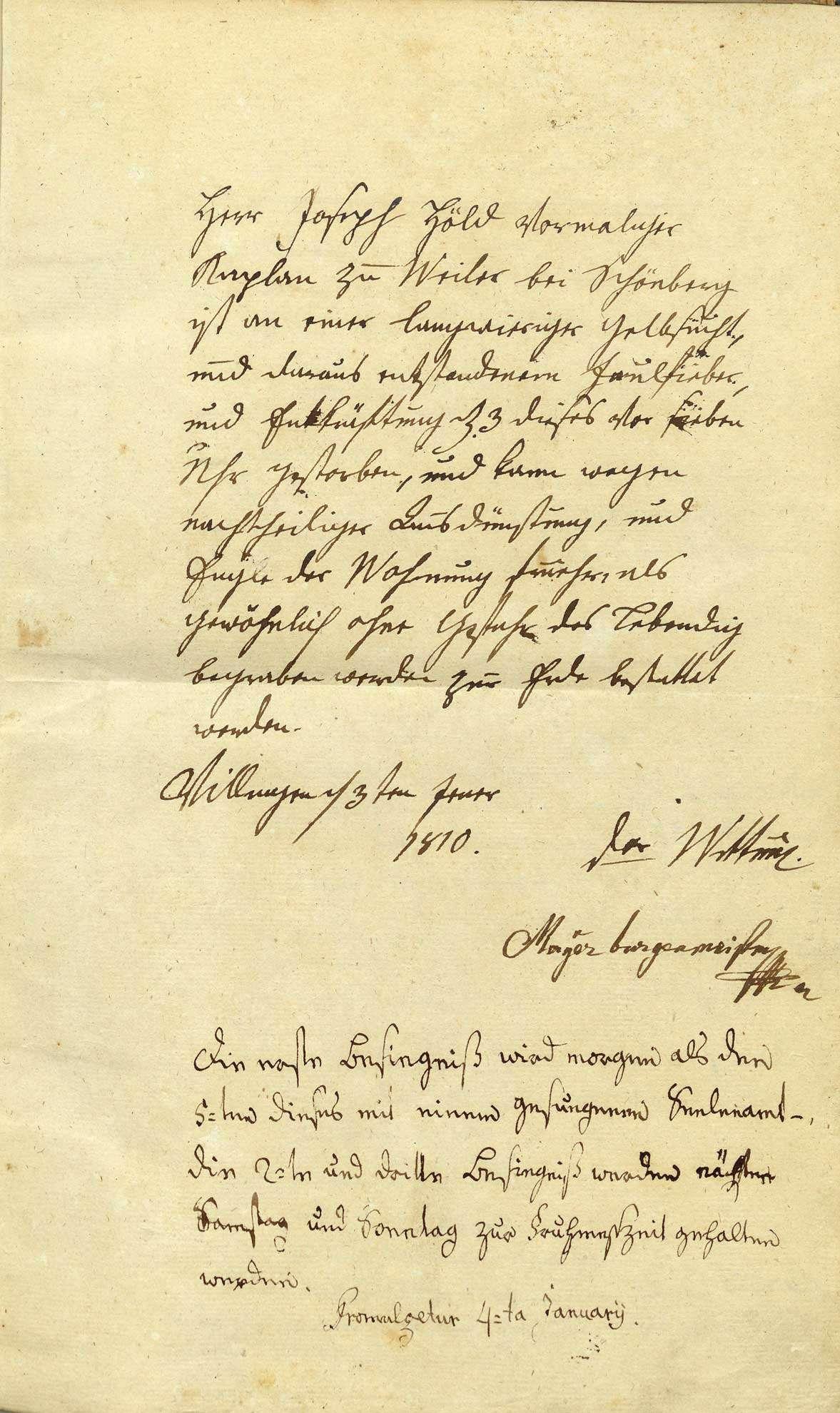 Villingen, Villingen-Schwenningen VS; Katholische Gemeinde: Sterbebuch 1810-1814, Bild 3