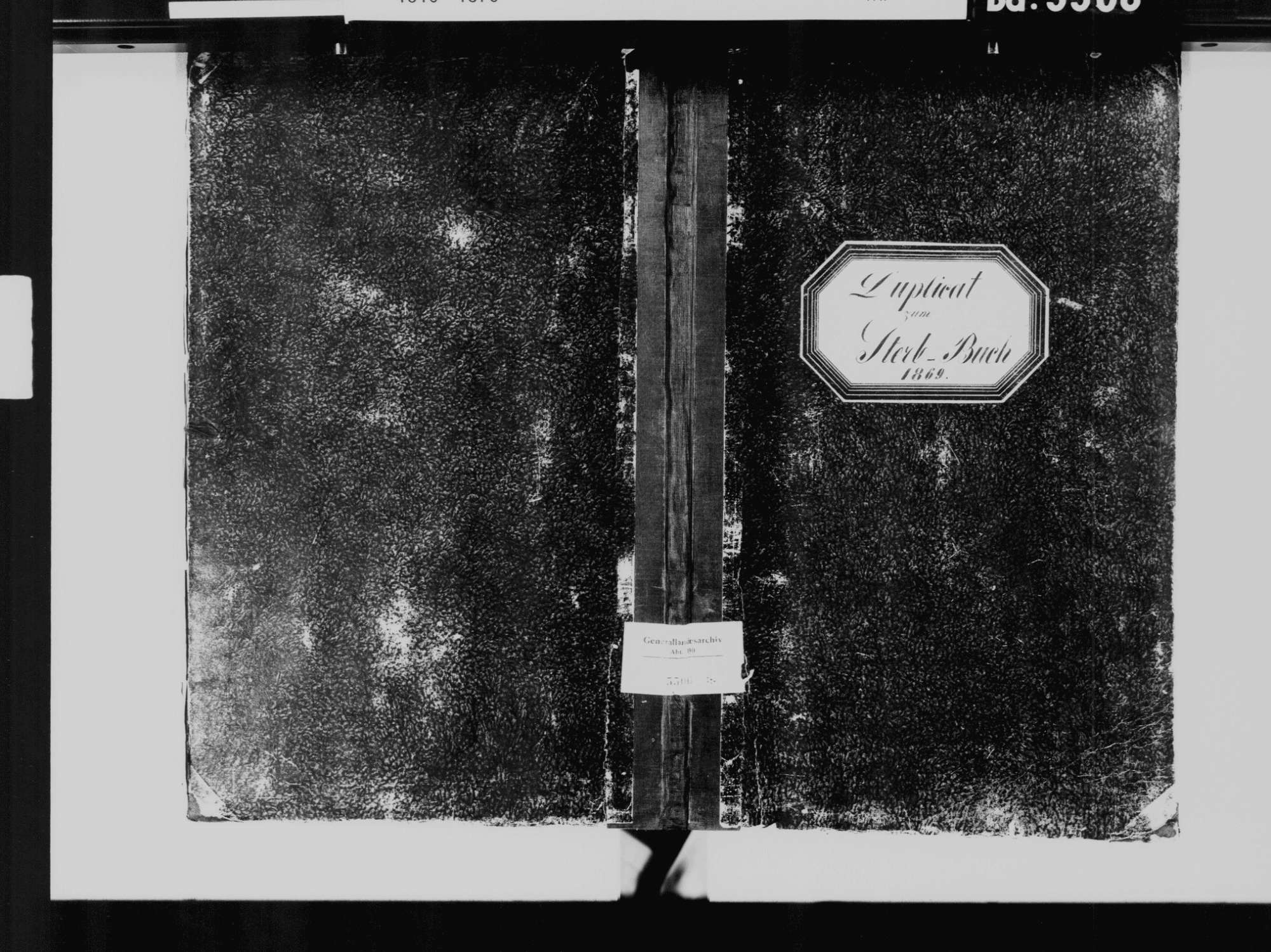 Villingen, Villingen-Schwenningen VS; Katholische Gemeinde: Sterbebuch 1869, Bild 2