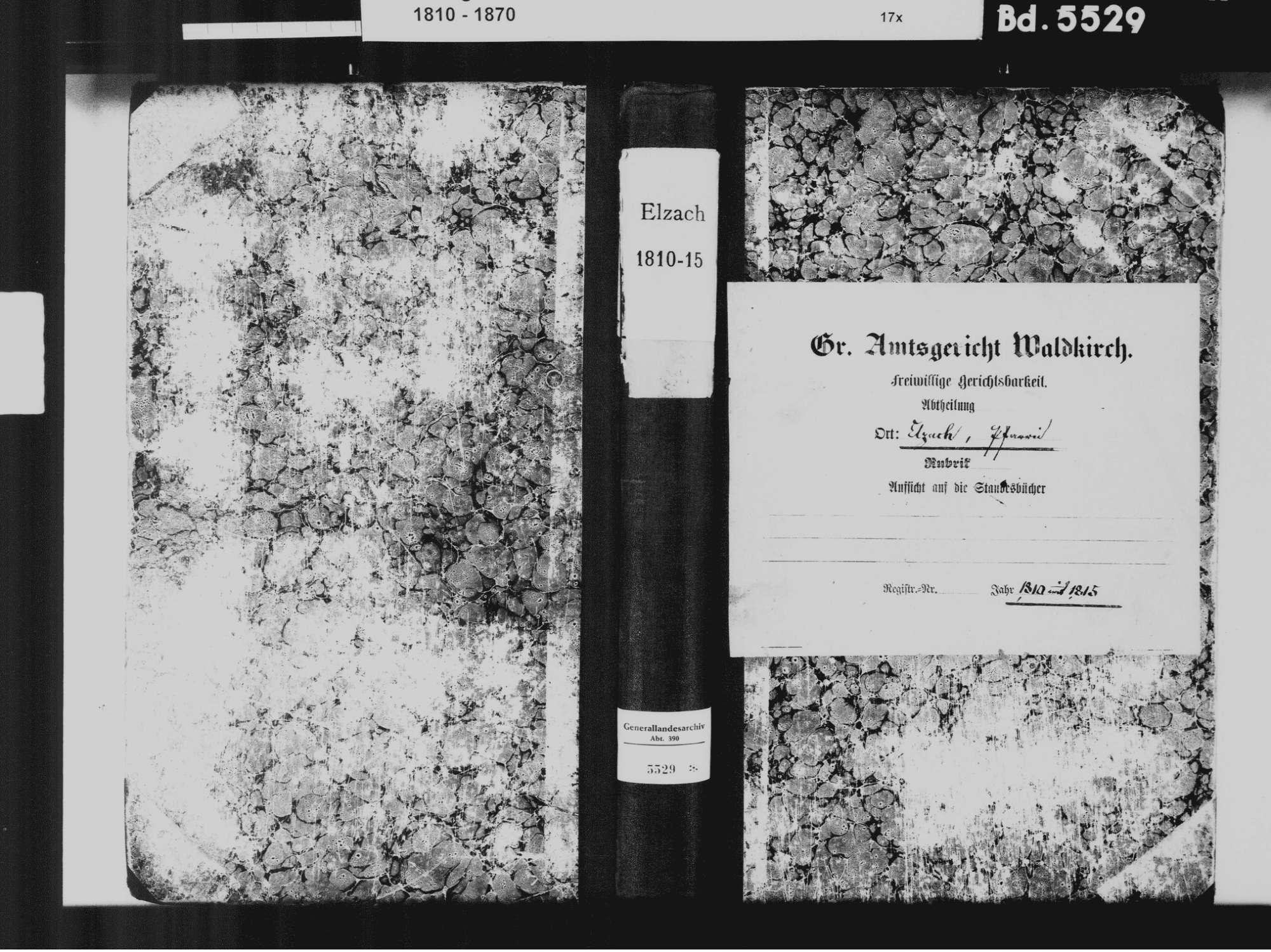 Elzach EM; Katholische Gemeinde: Standesbuch 1810-1815, Bild 2