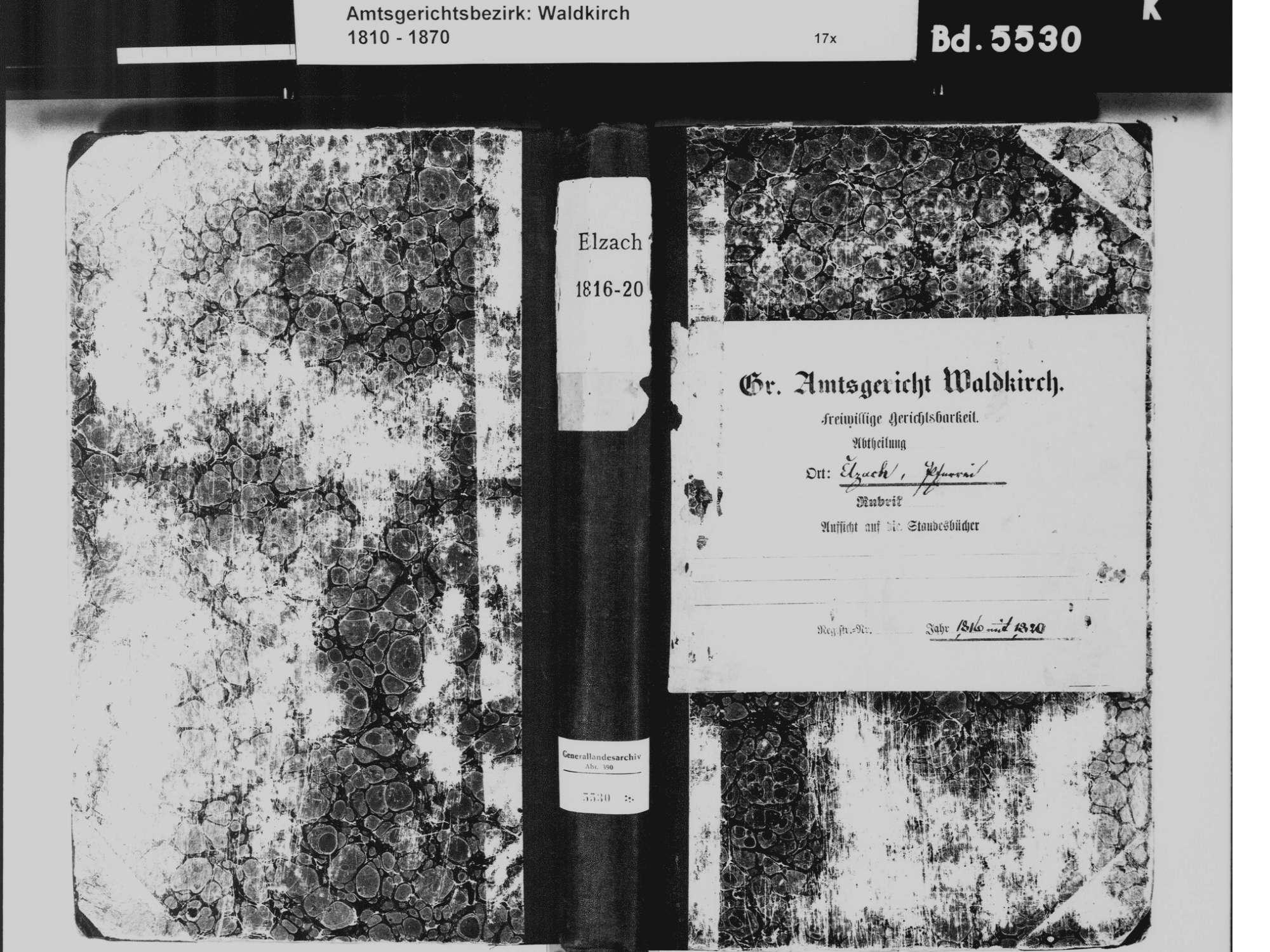 Elzach EM; Katholische Gemeinde: Standesbuch 1816-1820, Bild 2